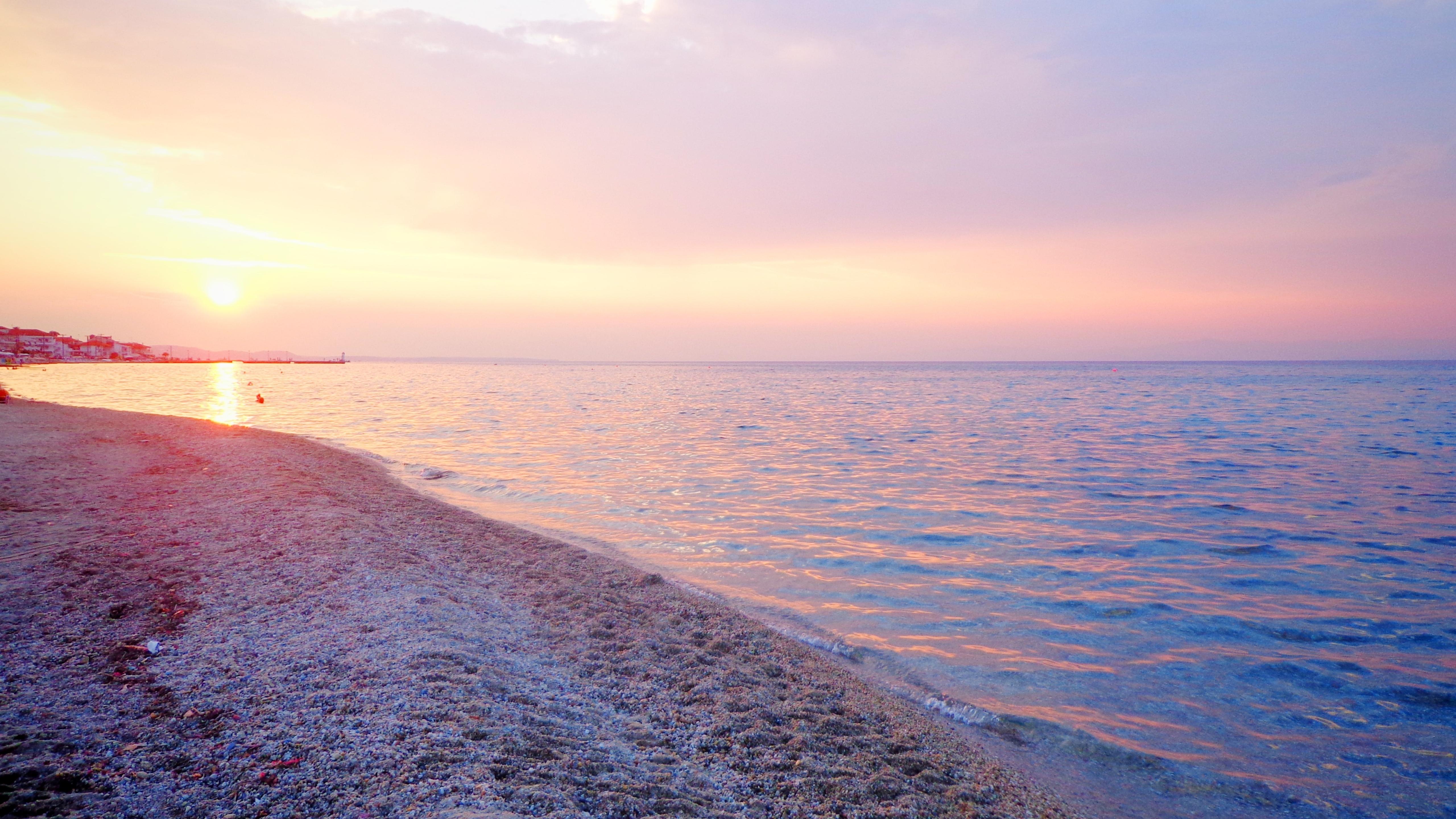 5120x2880 Greece Sea Beach 5k Wallpaper Hd Nature 4k