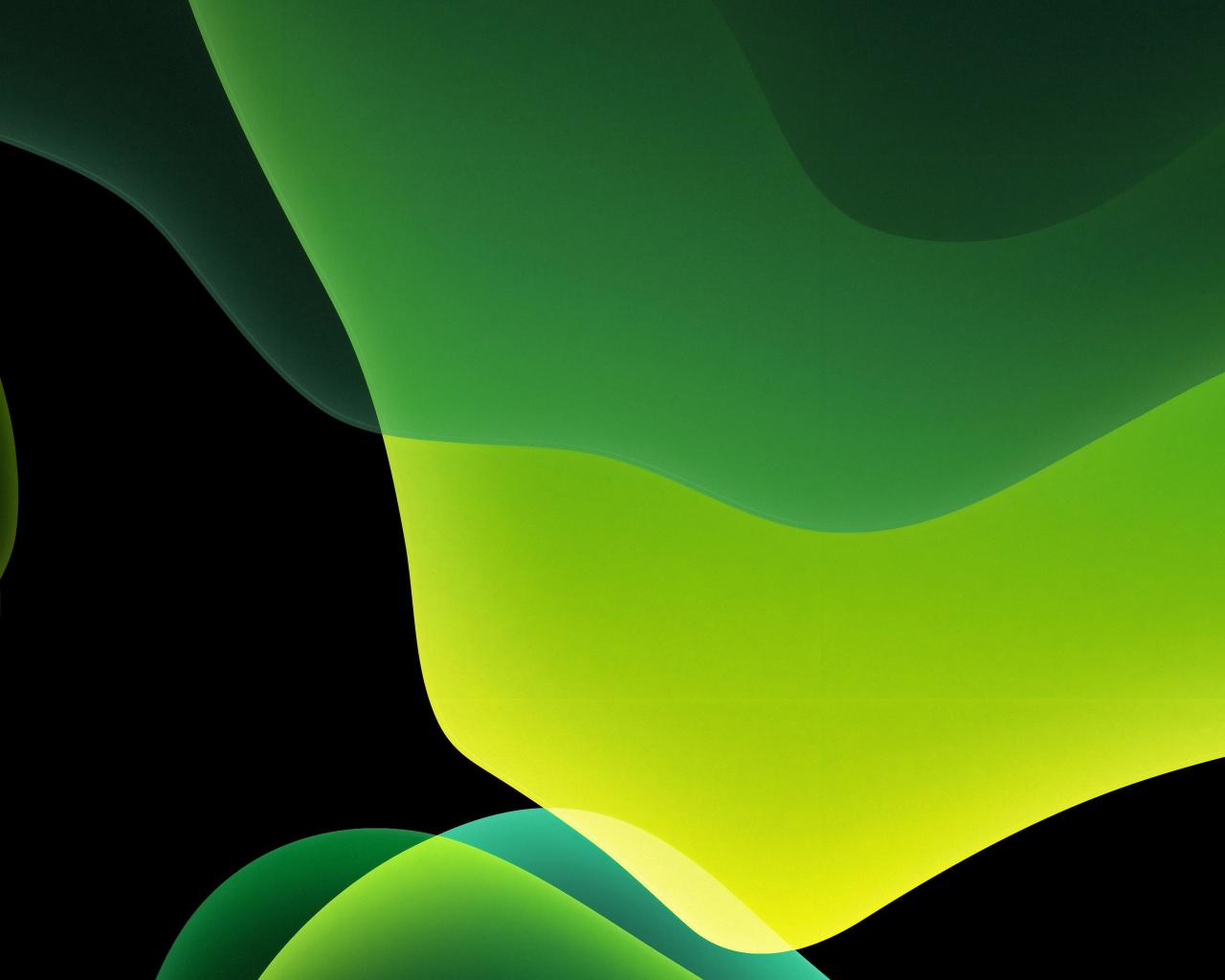 1280x1024 Green Ios 13 Abstract Dark 1280x1024 Resolution
