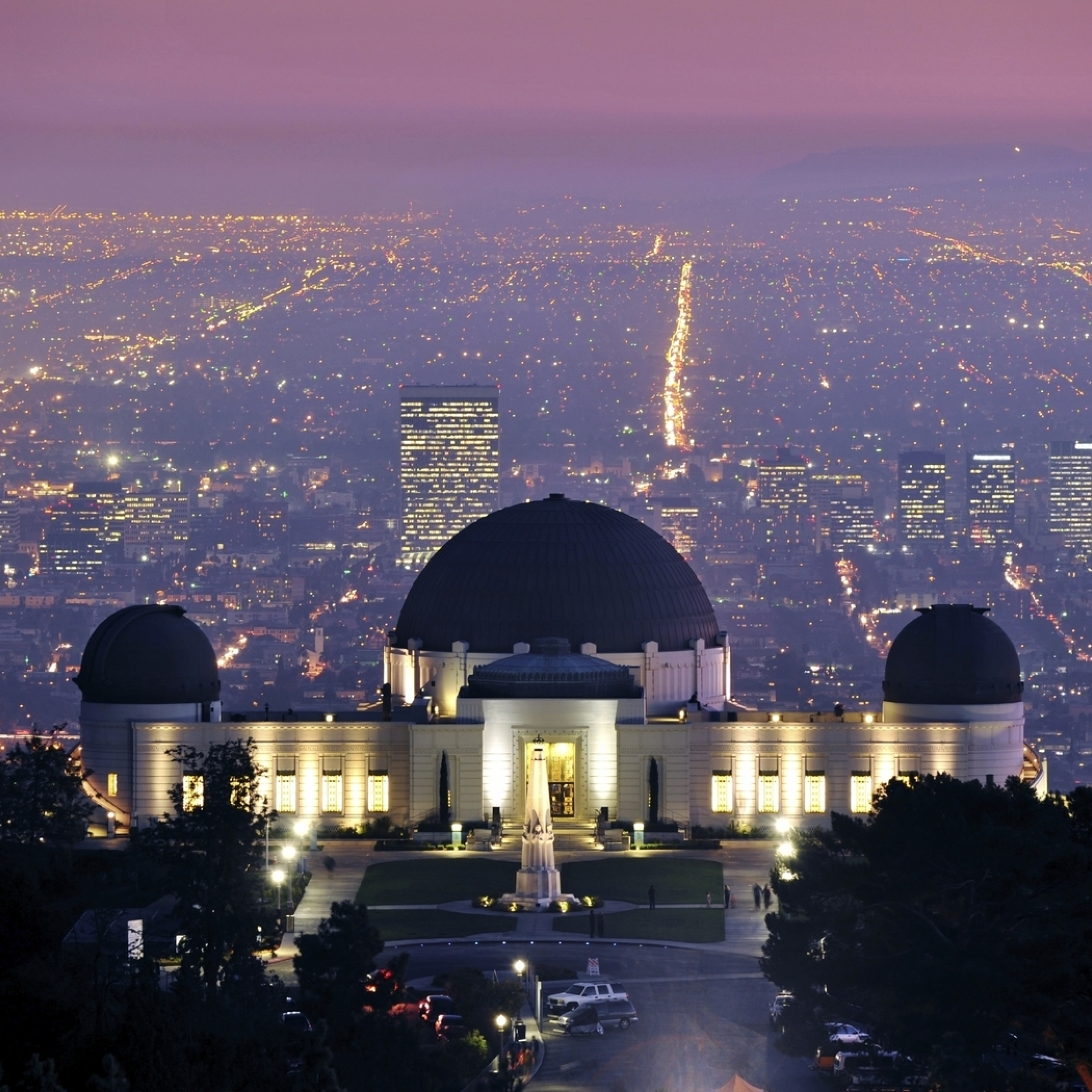 Wallpaper Los Angeles: Griffith Observatory, Los Angeles, California, Full HD