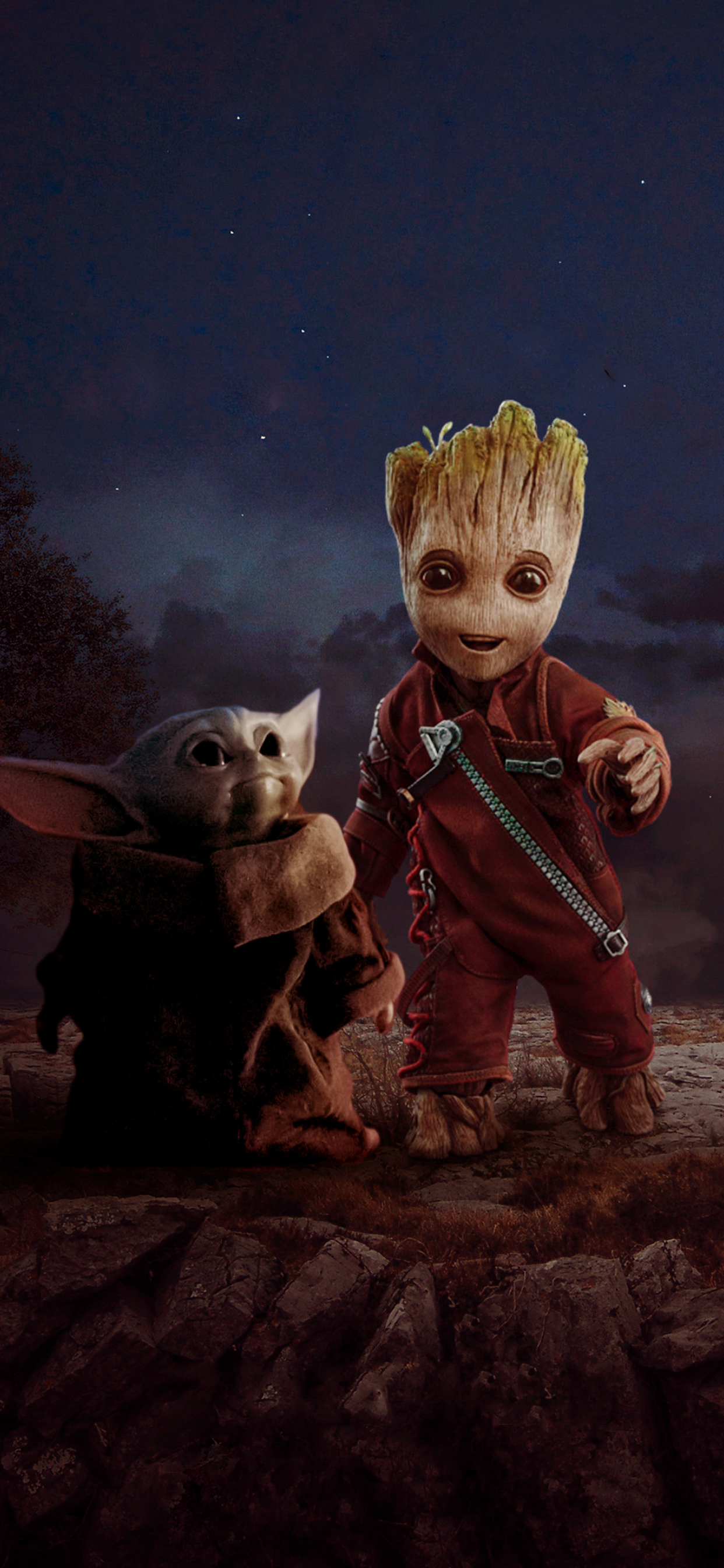 1242x2688 Groot And Baby Yoda Iphone Xs Max Wallpaper Hd Superheroes 4k Wallpapers Images Photos And Background