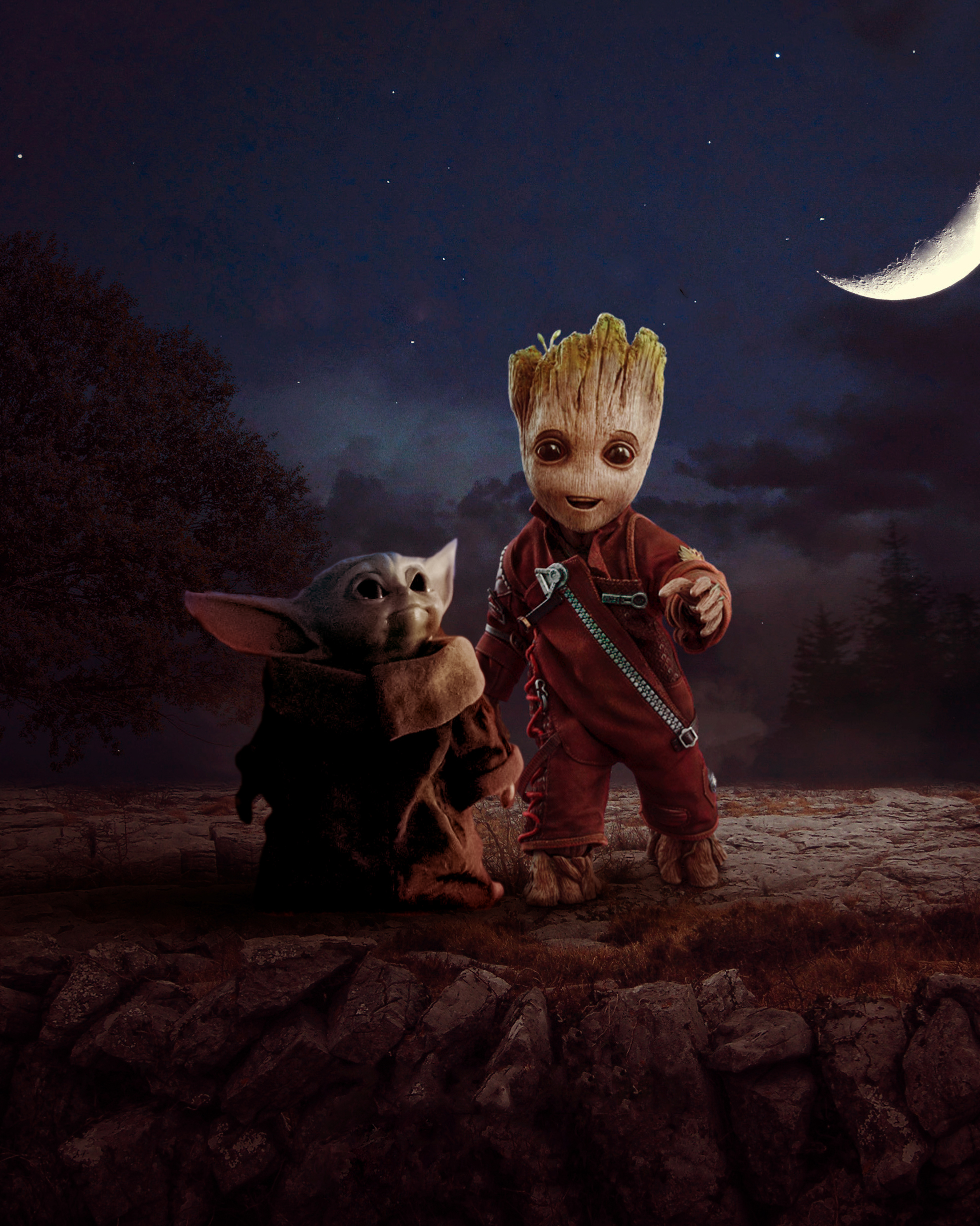 Groot And Baby Yoda Wallpaper Hd Superheroes 4k Wallpapers Images Photos And Background