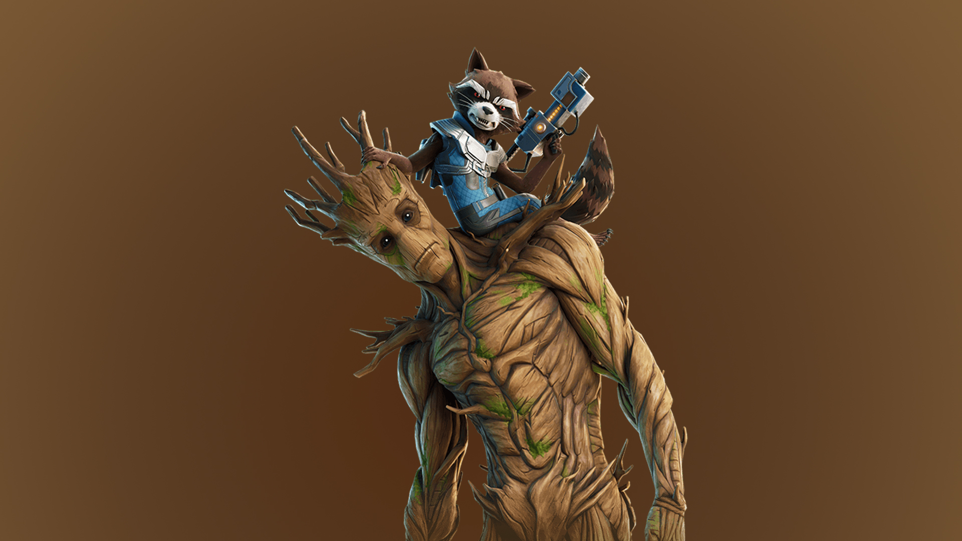 Groot Rocket Fortnite Wallpaper Hd Games 4k Wallpapers Images Photos And Background