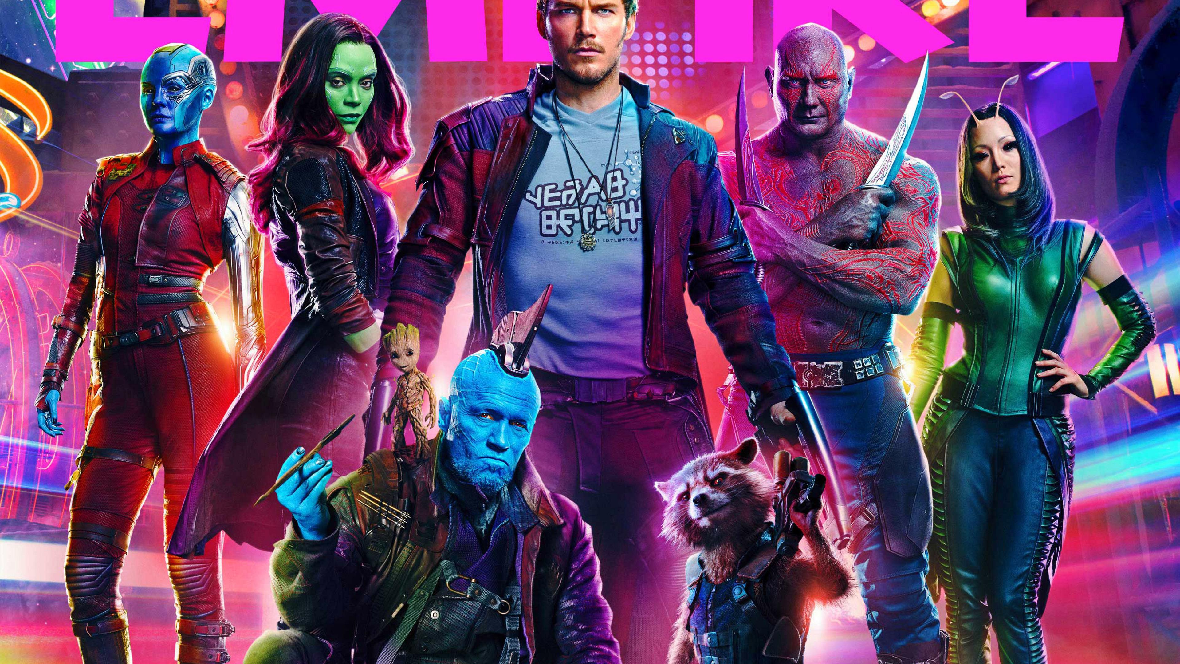 3840x2160 Guardians Of The Galaxy Vol 2 Empire Cover 4k Wallpaper