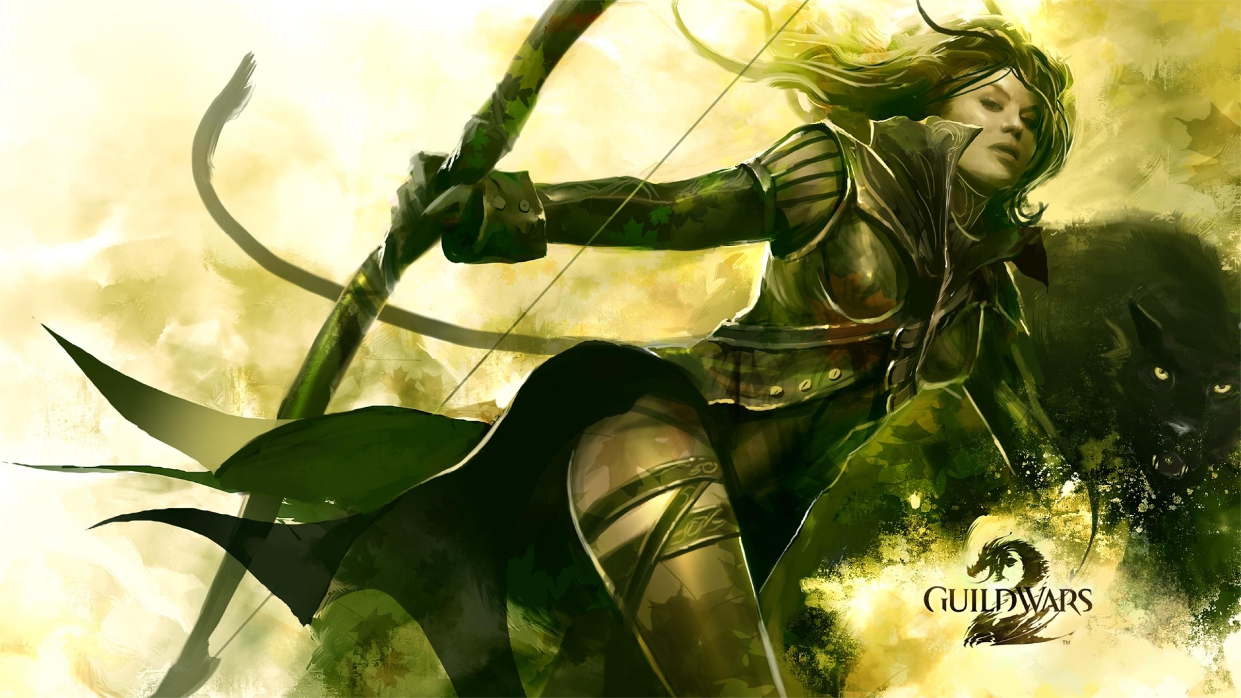 2560x1440 Guild Wars 2 Girl Bow 1440p Resolution Wallpaper Hd