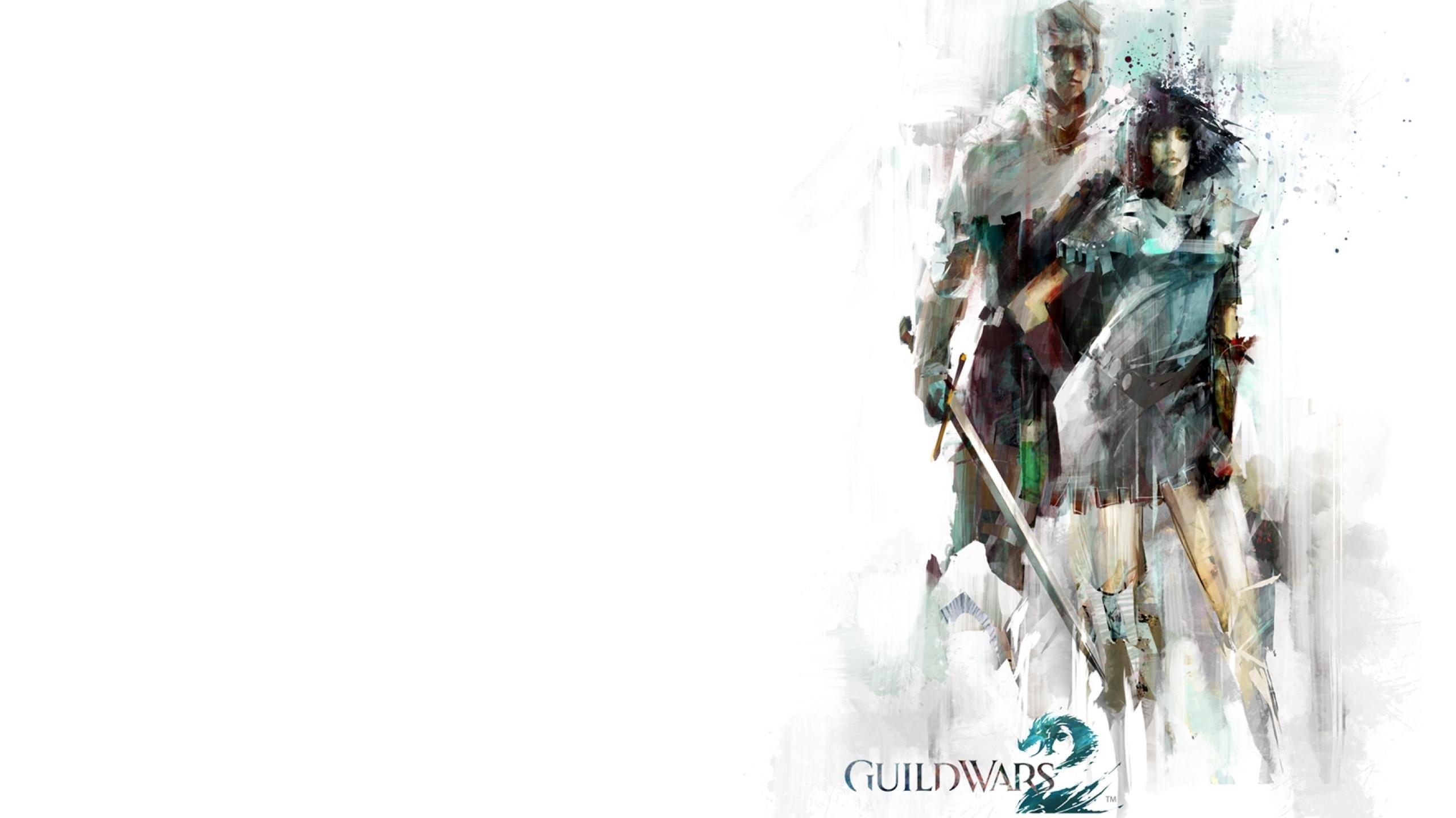 2560x1440 Guild Wars 2 Man Female 1440p Resolution Wallpaper Hd