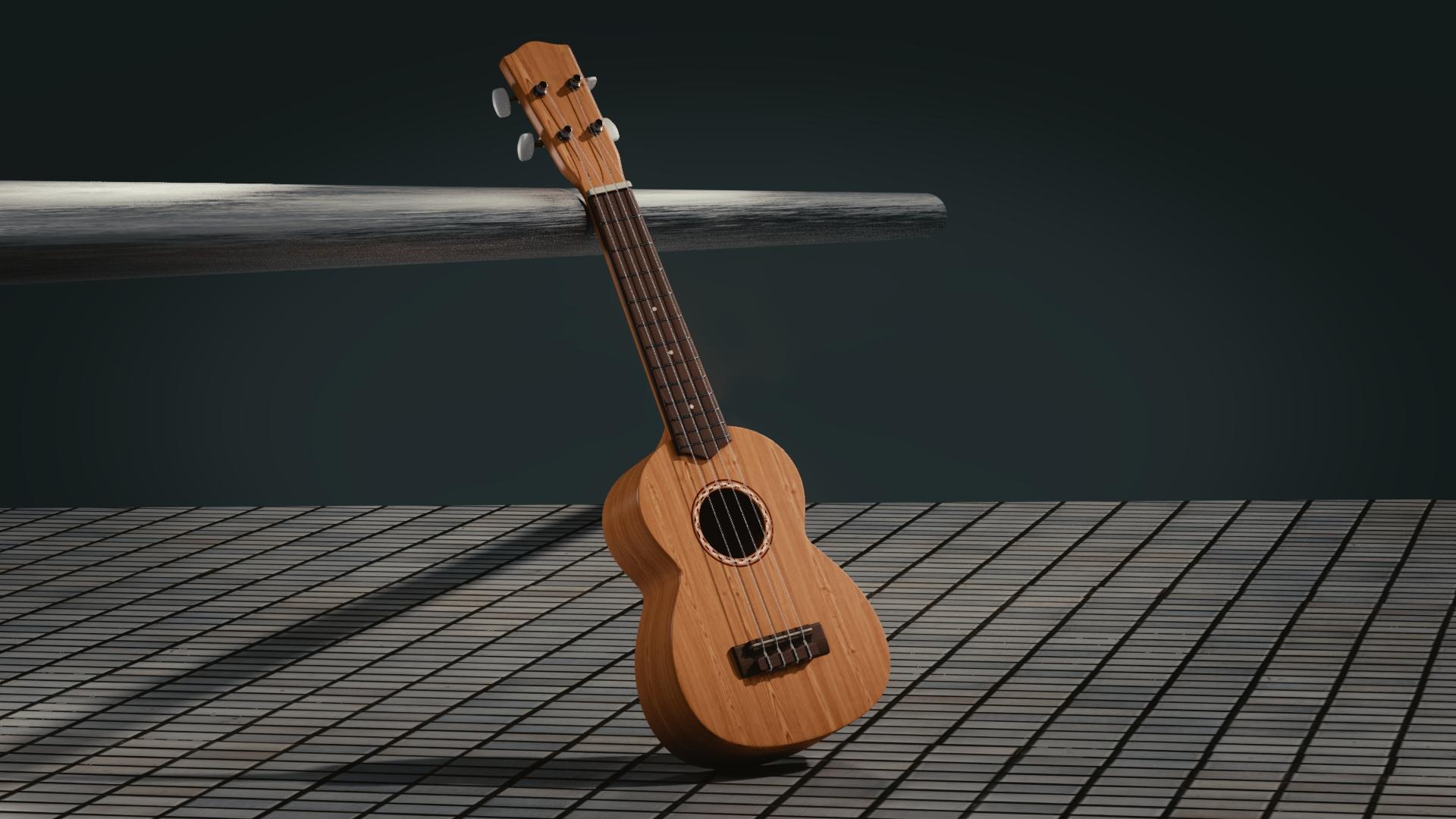 guitar, 3d, space, full hd wallpaper