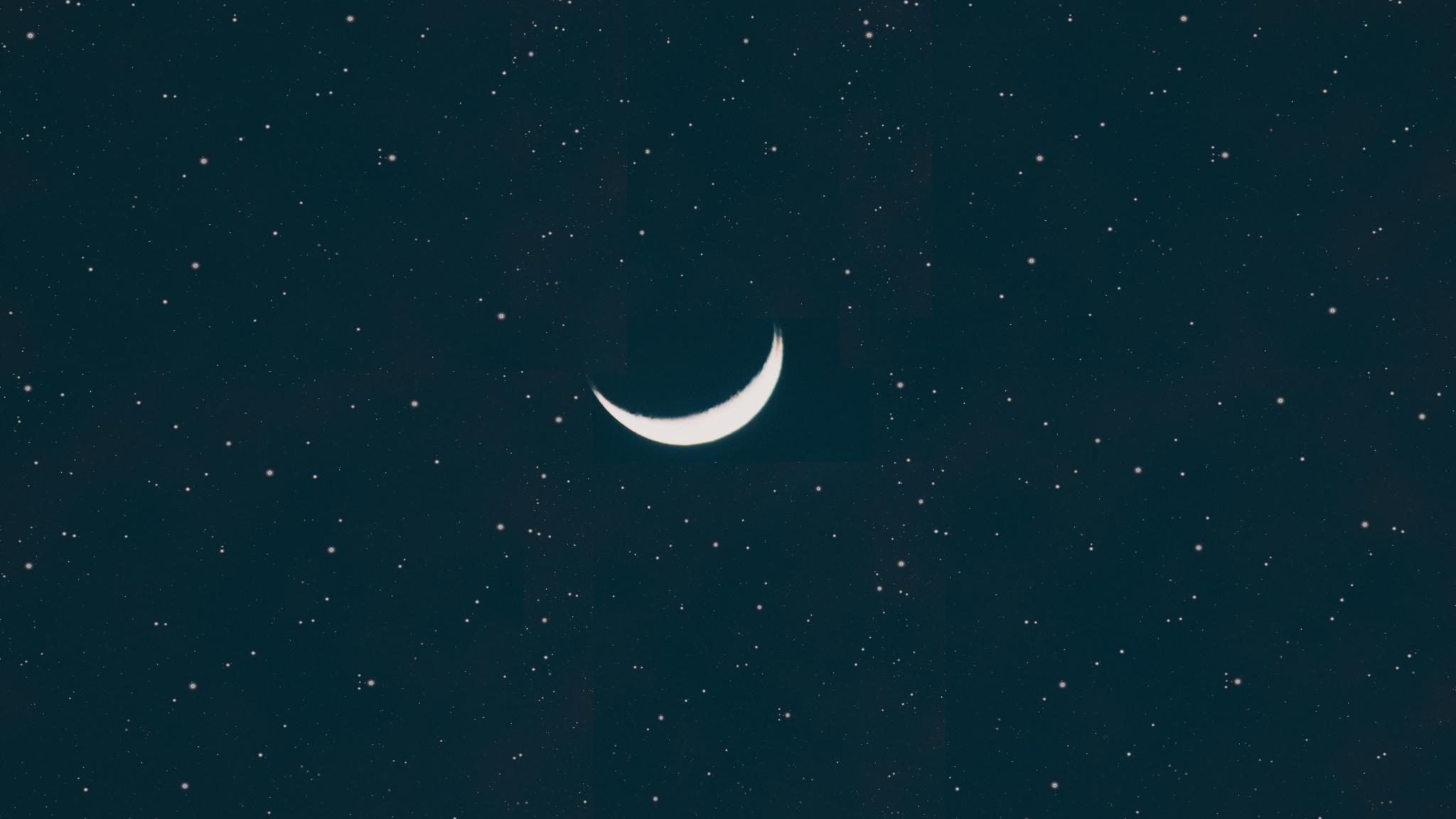 2048x1152 Half Moon 2048x1152 Resolution Wallpaper Hd