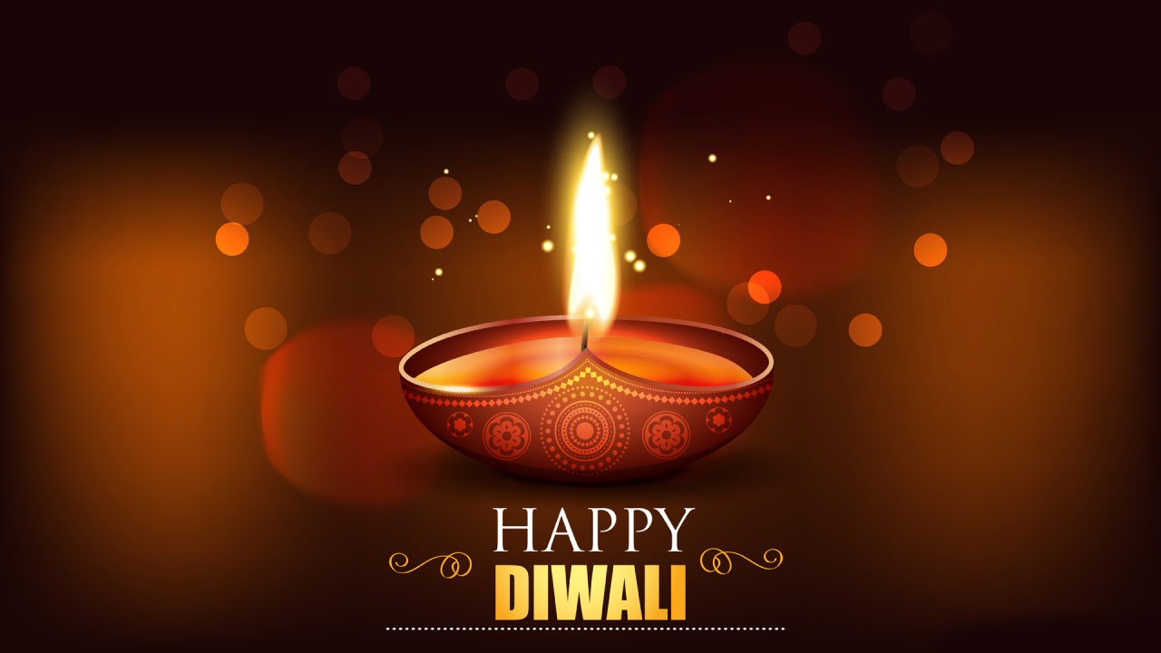 Happy Diwali 2020 Wallpaper in 1280x720 Resolution