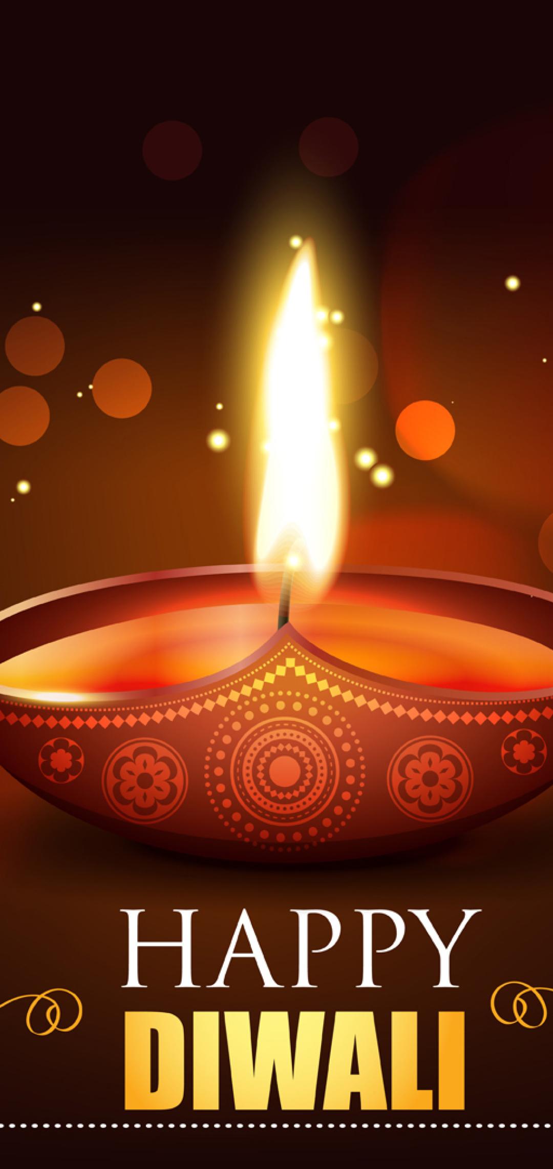 Happy Diwali 2020 Wallpaper in 1080x2280 Resolution
