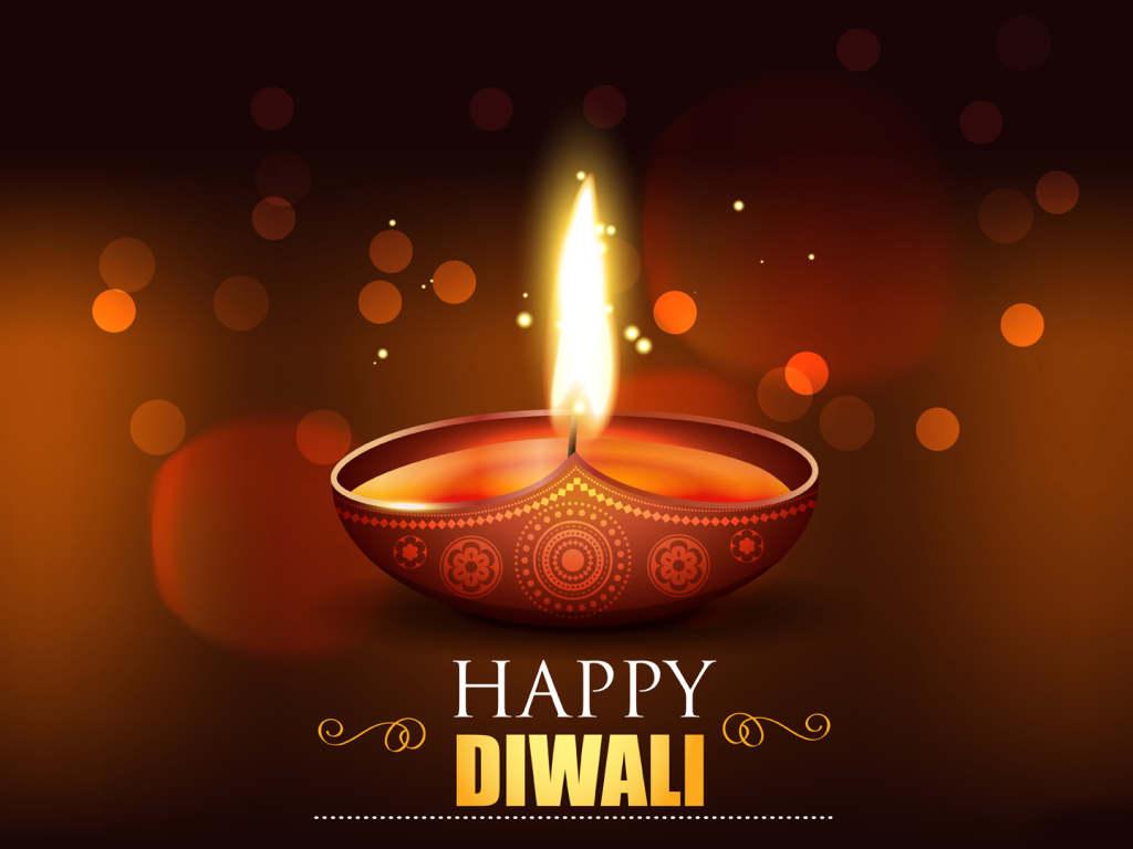 Happy Diwali 2020 Wallpaper in 1024x768 Resolution
