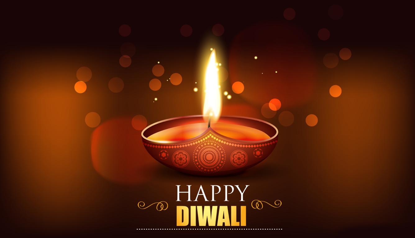 Happy Diwali 2020 Wallpaper in 1336x768 Resolution