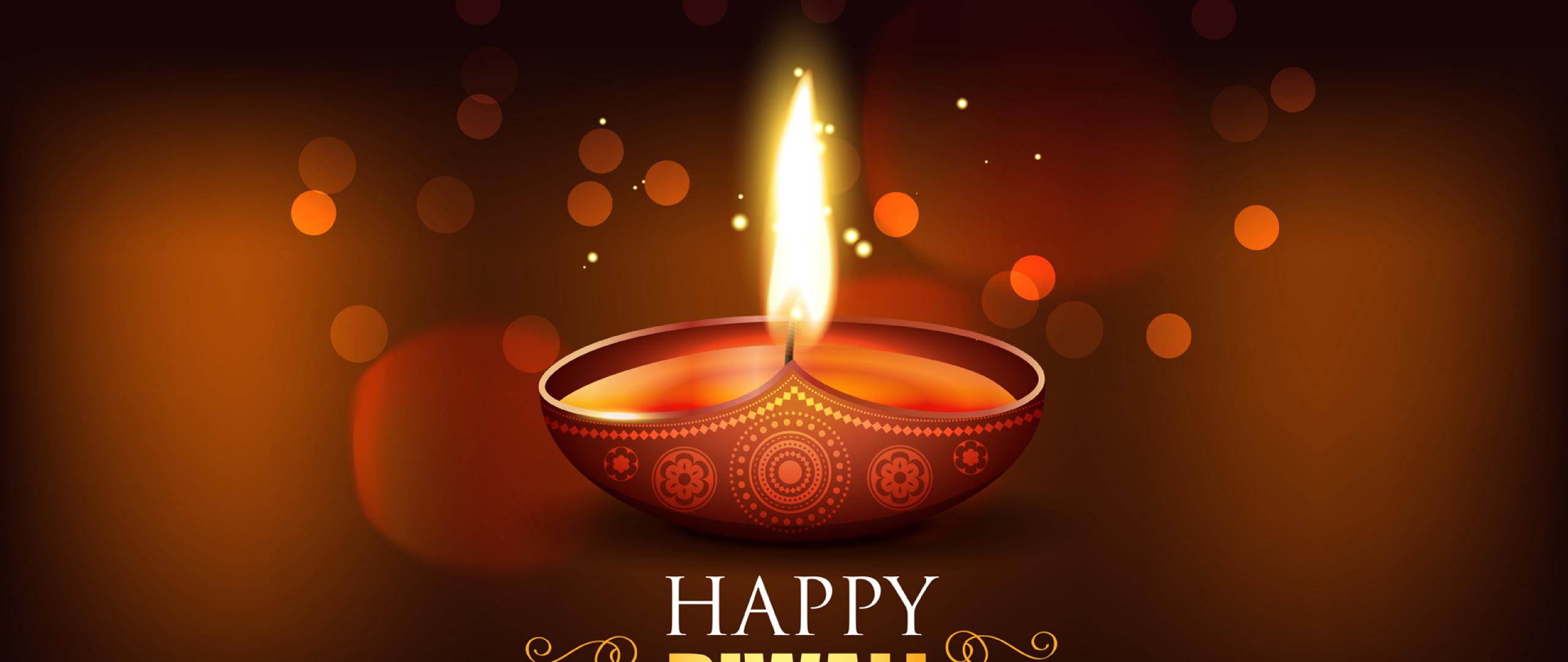 Happy Diwali 2020 Wallpaper in 2560x1080 Resolution