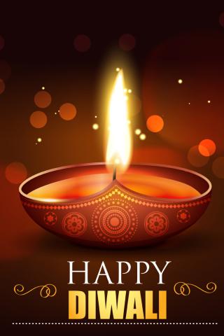Happy Diwali 2020 Wallpaper in 320x480 Resolution