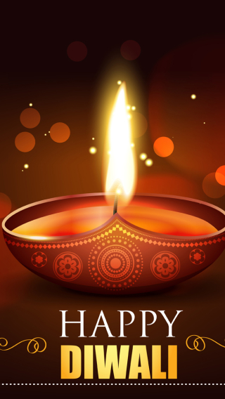 Happy Diwali 2020 Wallpaper in 320x568 Resolution