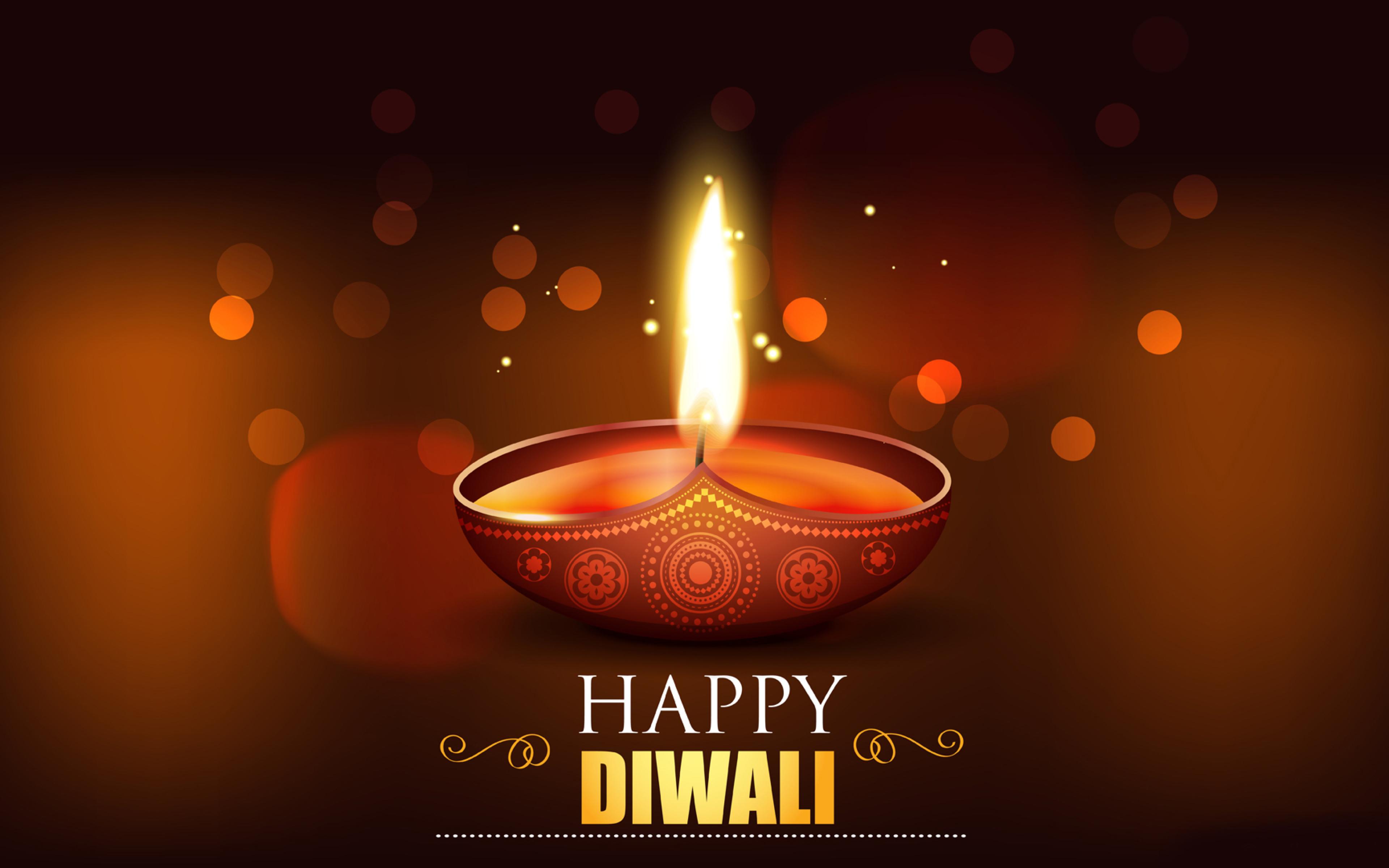 Happy Diwali 2020 Wallpaper in 3840x2400 Resolution