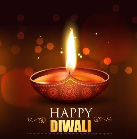 Happy Diwali 2020 Wallpaper in 480x484 Resolution