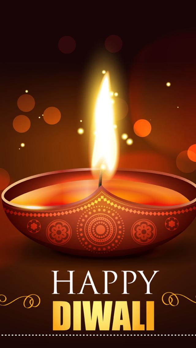 Happy Diwali 2020 Wallpaper in 640x1136 Resolution