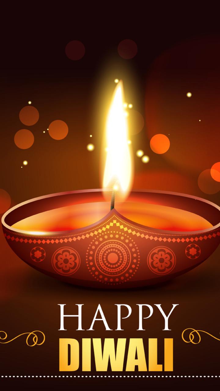 Happy Diwali 2020 Wallpaper in 720x1280 Resolution