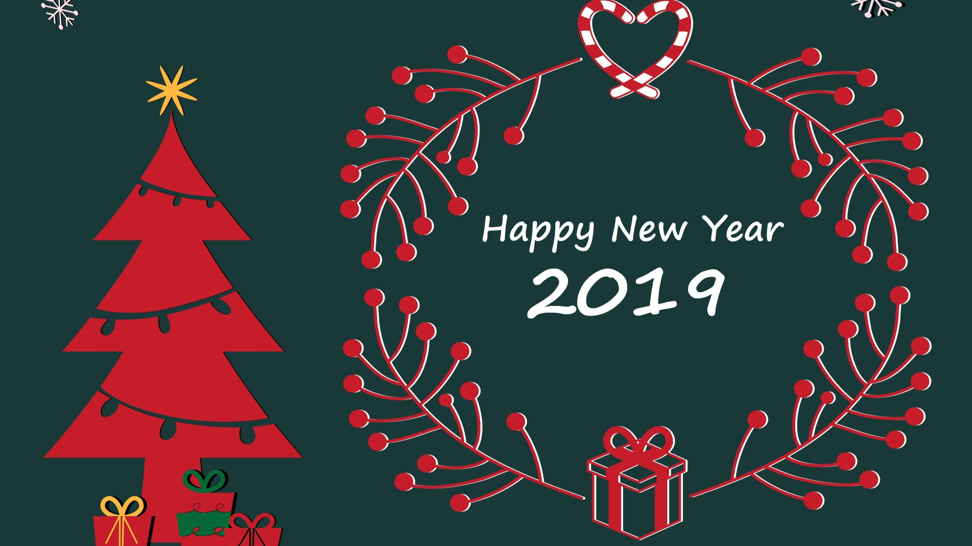 1920x1080 Happy New Year And Merry Christmas 2019 1080p