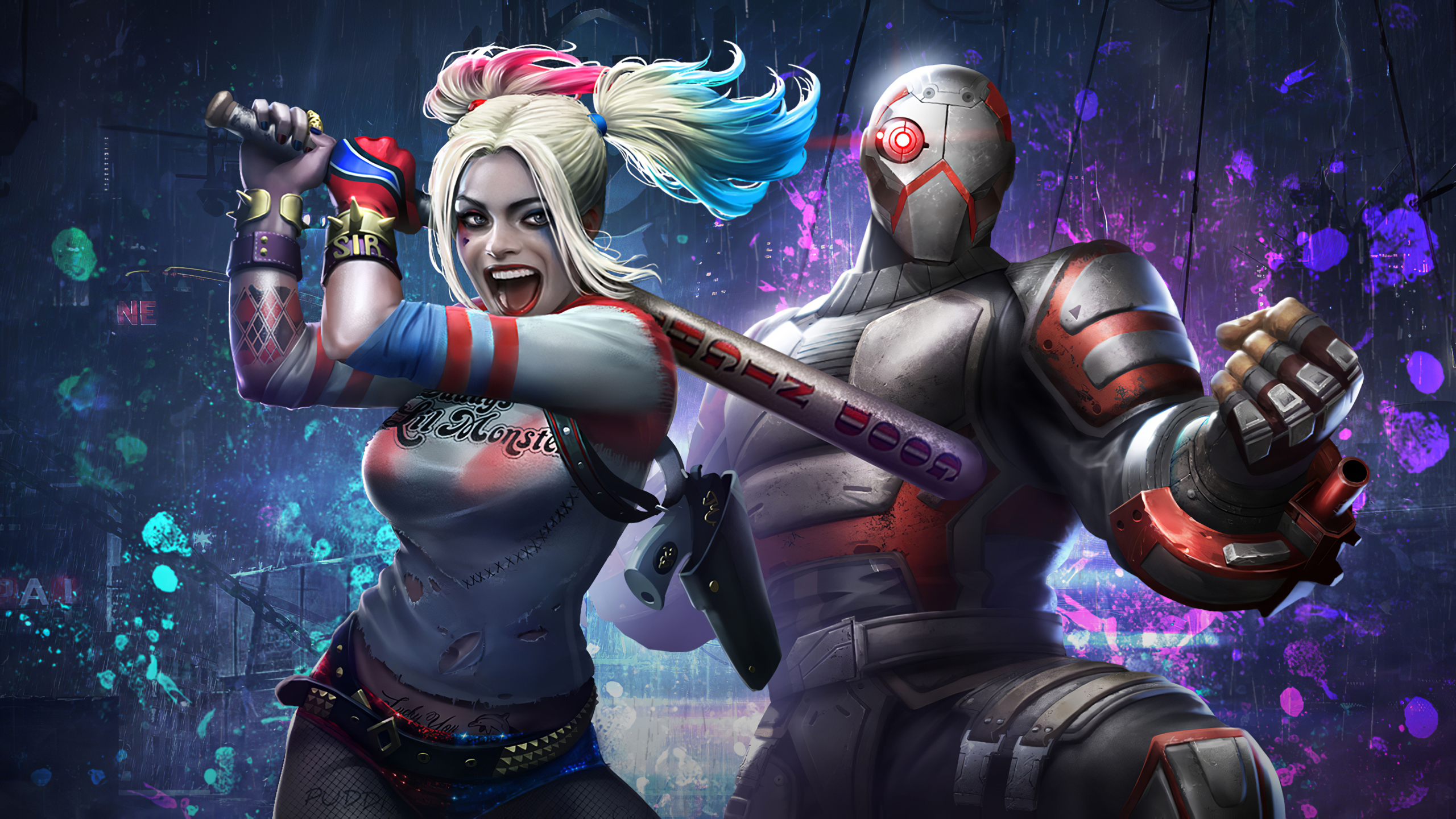2560x1440 Harley Quinn & Deadshot Injustice 2 Mobile 1440P ...