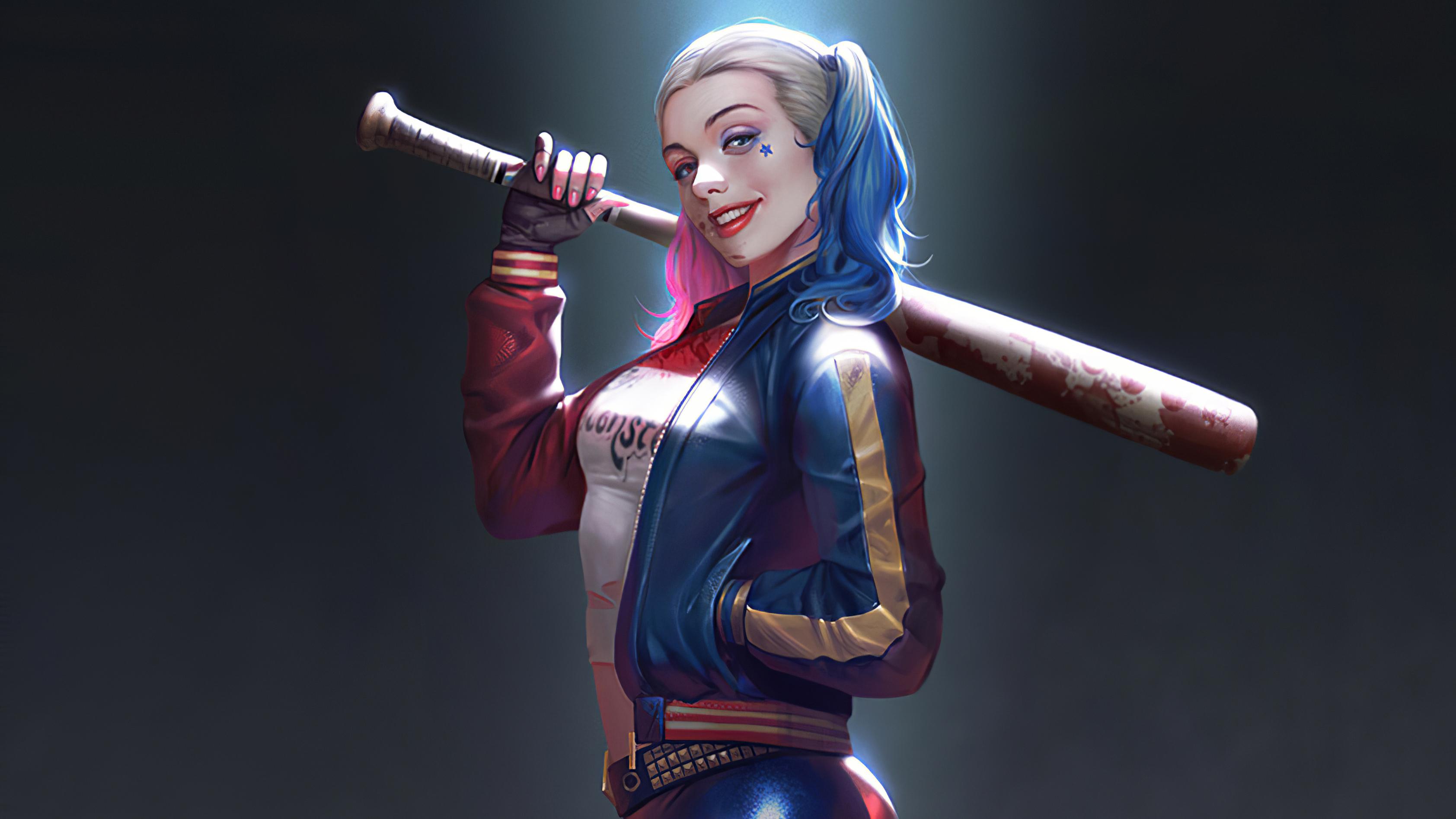 Harley Quinn Cute Smile Wallpaper, HD Superheroes 4K ...
