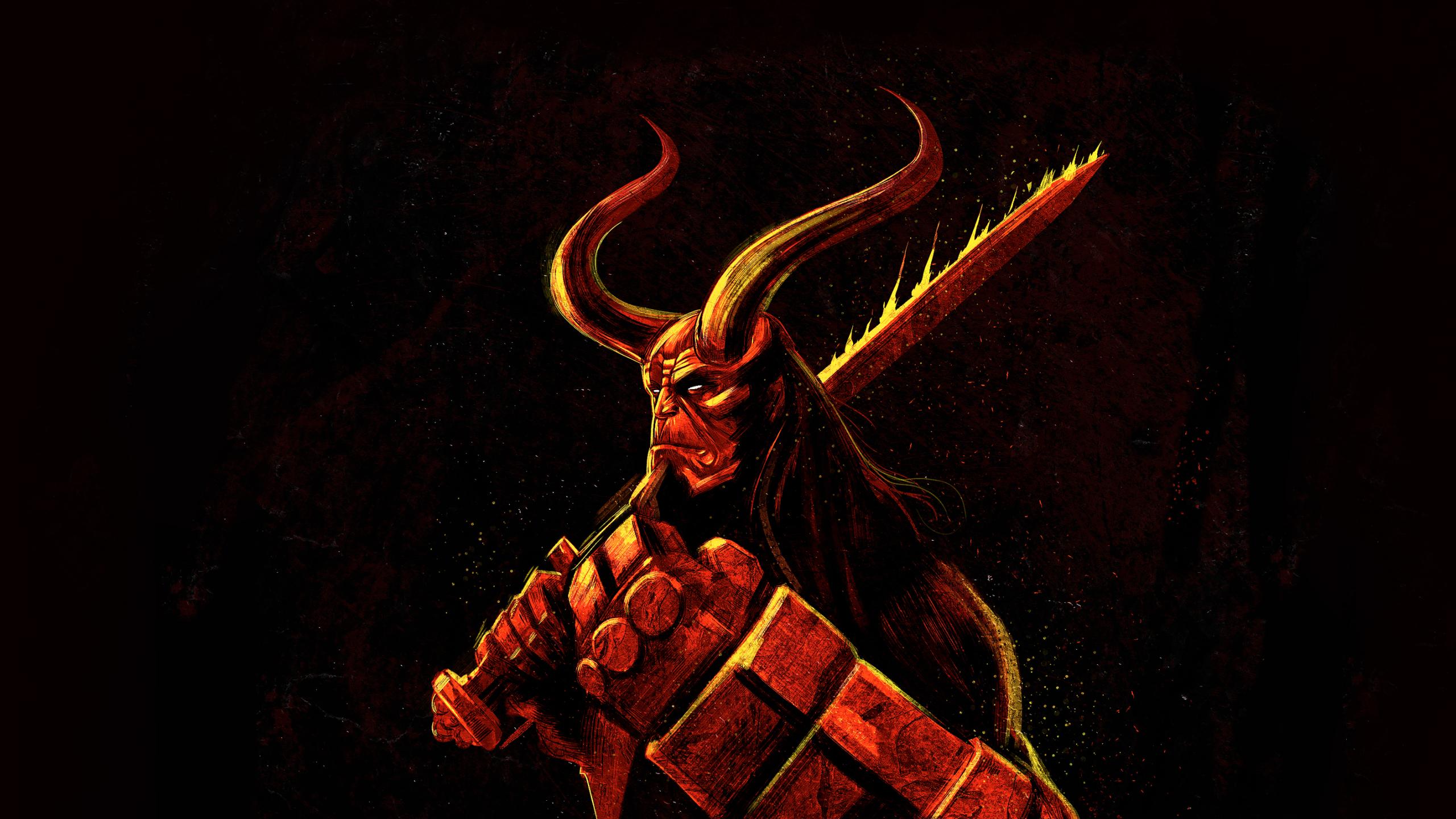 2560x1440 Hellboy Illustration 1440p Resolution Wallpaper