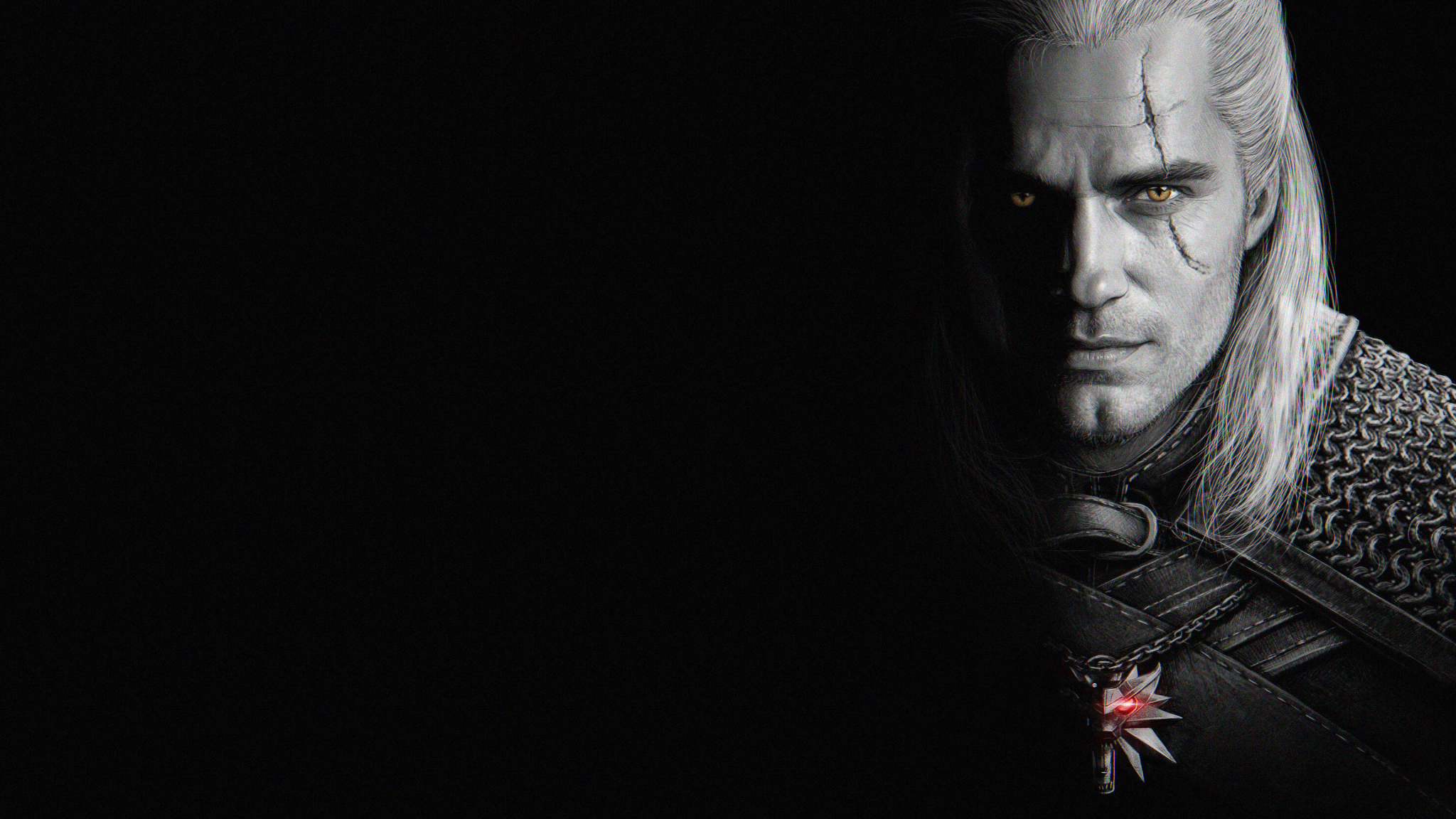 2048x1152 Henry Cavill As Geralt Of Rivia 2048x1152