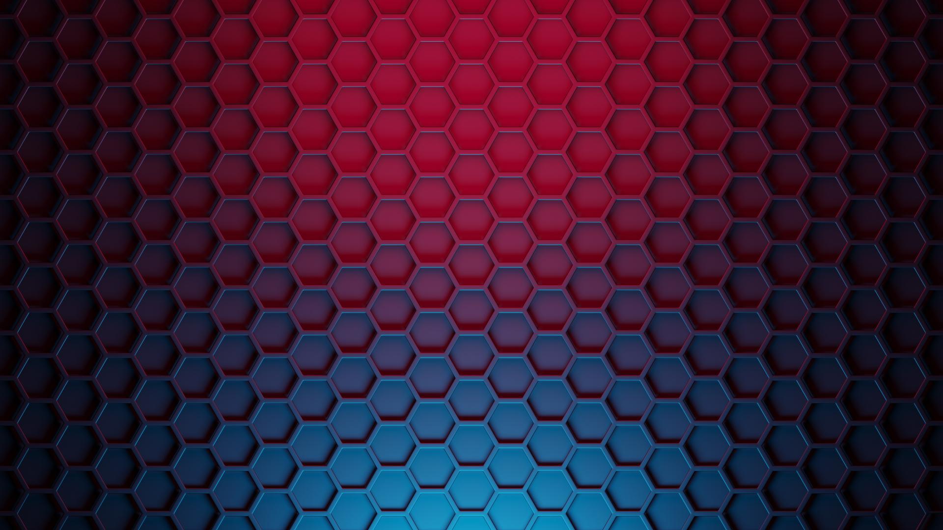 1920x1080 Hexagon 3D Pattern 1080P Laptop Full HD ...