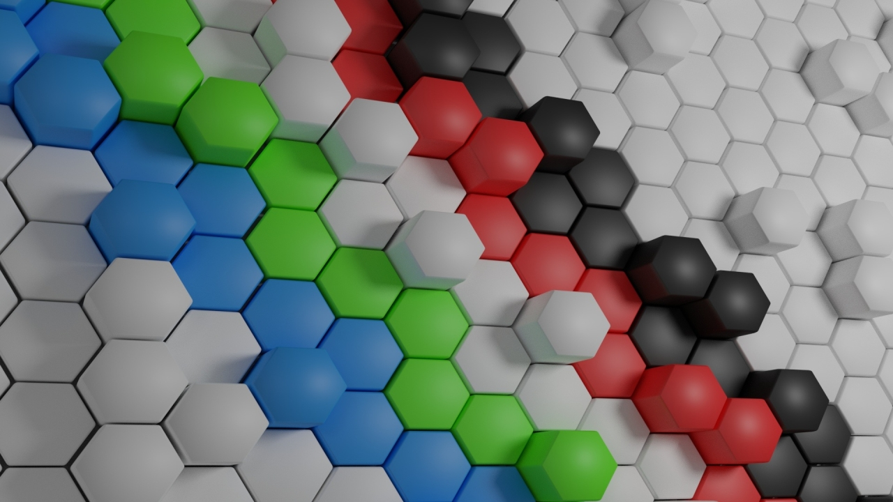 Hexagon Shaped Surface 720P Wallpaper HD 3D 4K