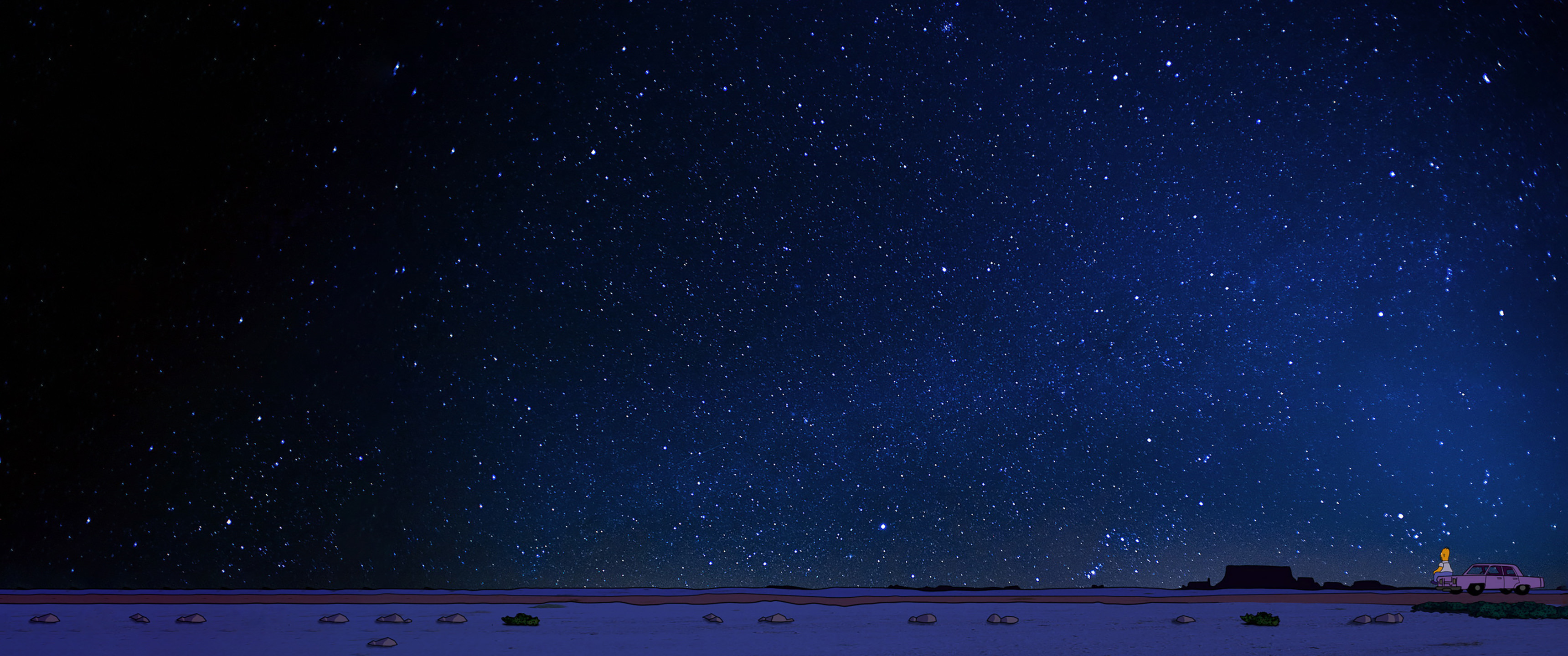 Homer Looking At The Stars Wallpaper Hd Artist 4k