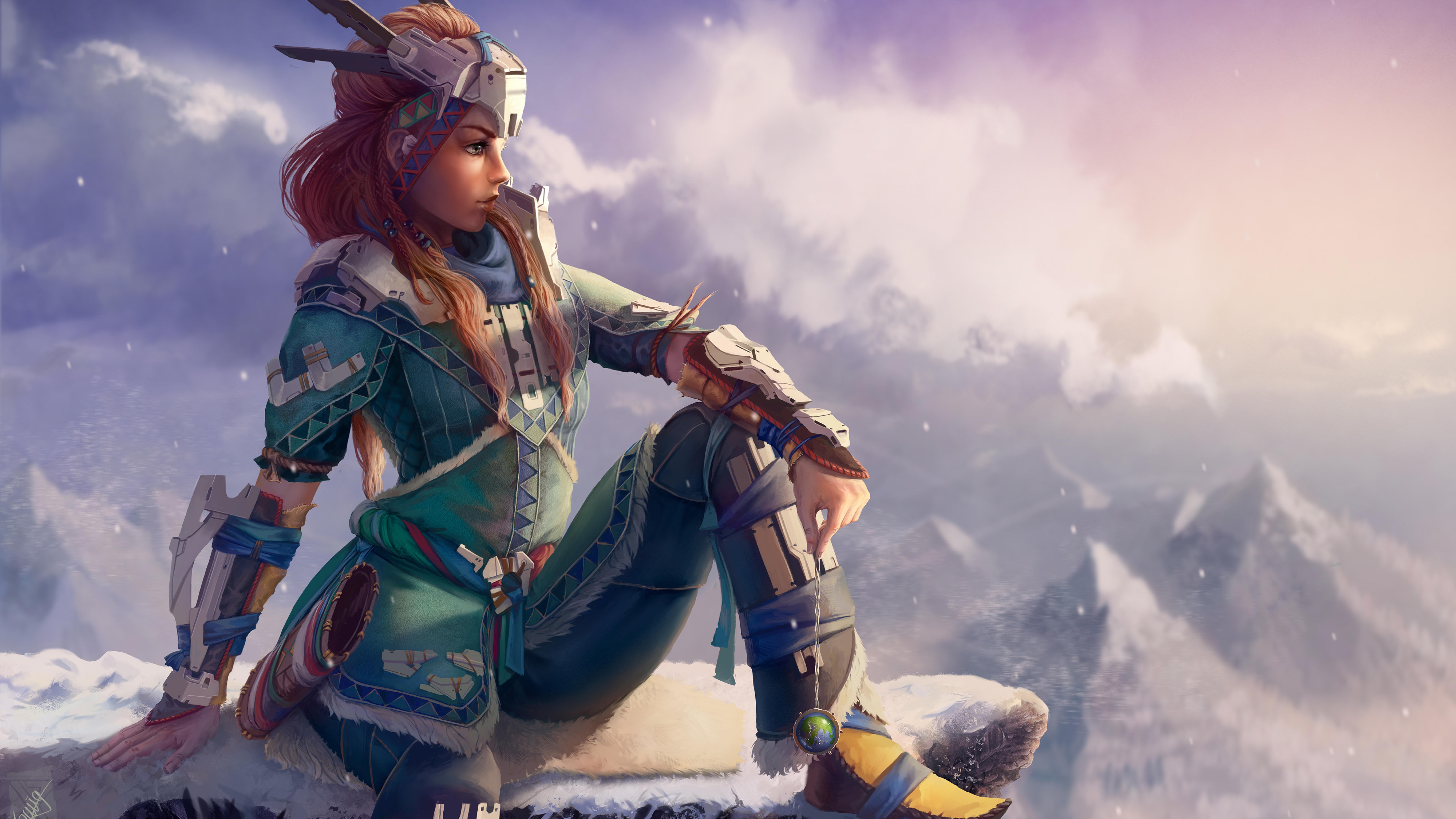 7680x4320 Horizon Zero Dawn Aloy Artwork 8k Wallpaper Hd Games 4k