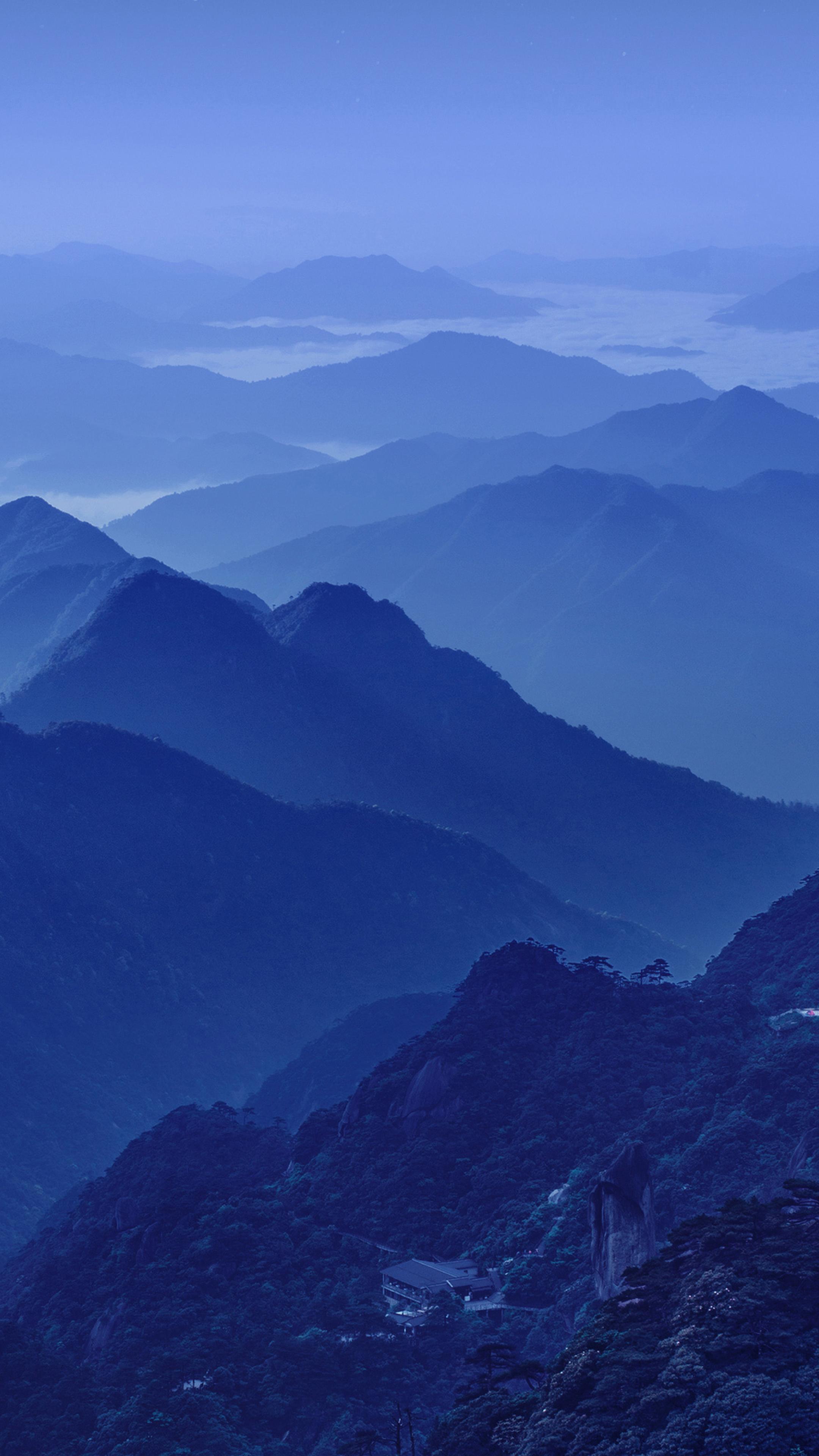 Huawei Mate 10 Wallpapers: Huawei Mate 10 Cold Night Mountains Stock, Full HD 2K