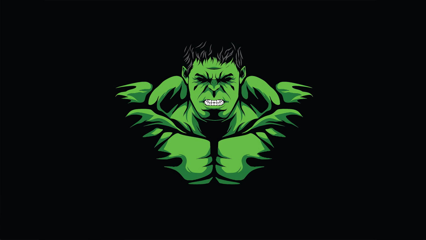 1360x768 Hulk Minimal Desktop Laptop Hd Wallpaper Hd