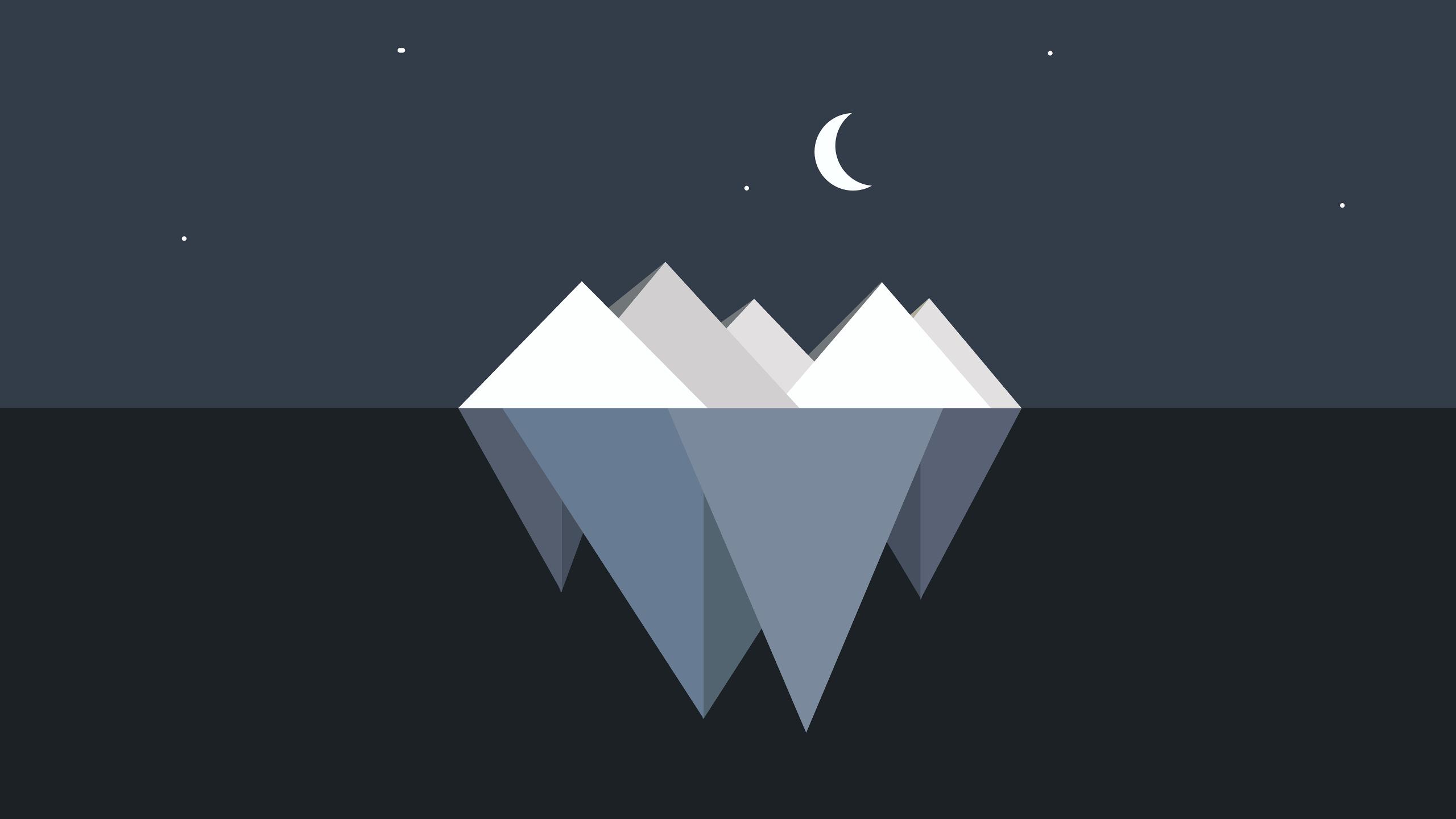 2560x1440 Iceberg Minimalist 1440P Resolution Wallpaper ...