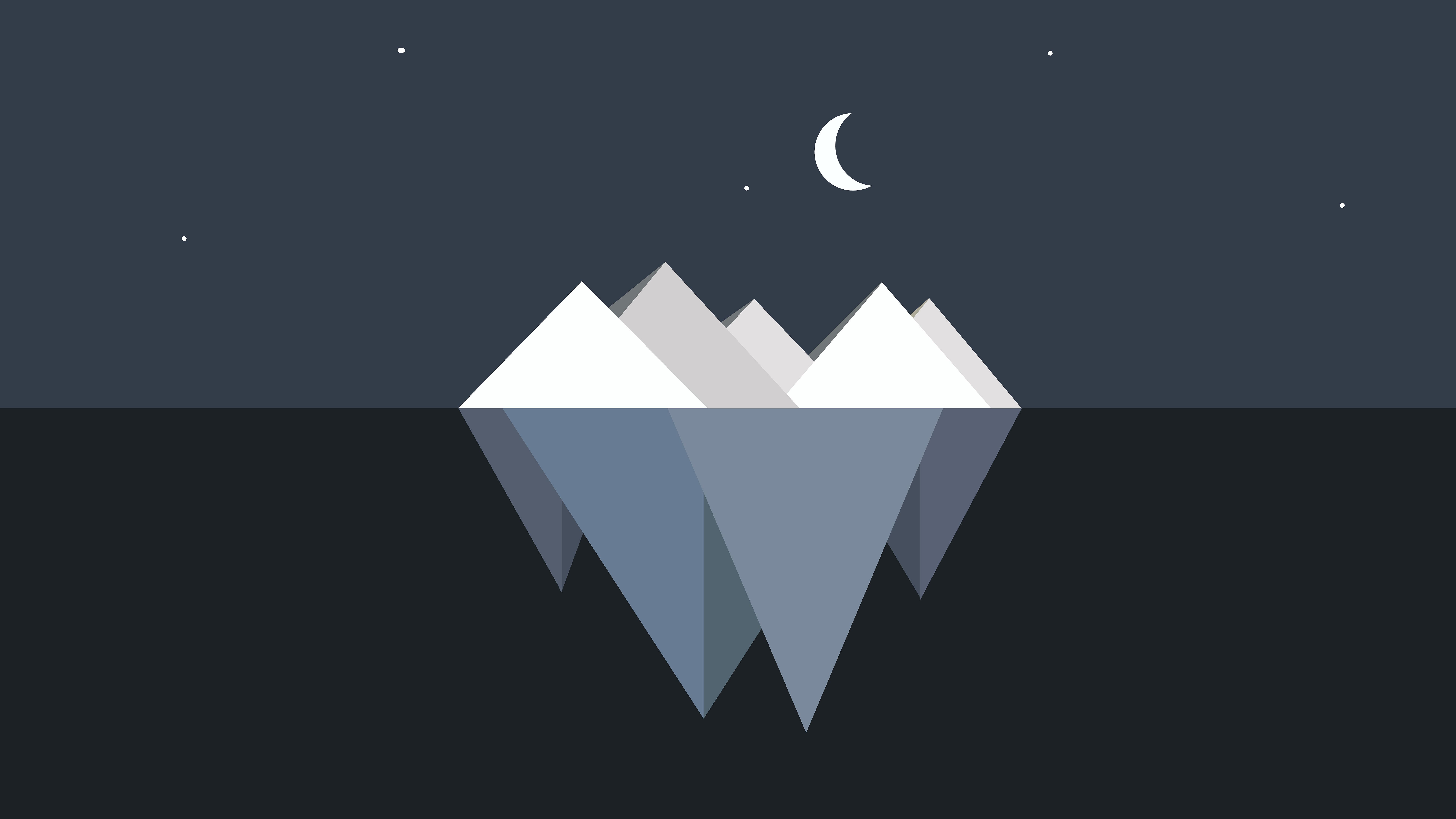 Iceberg Minimalist Wallpaper, HD Minimalist 4K Wallpapers ...