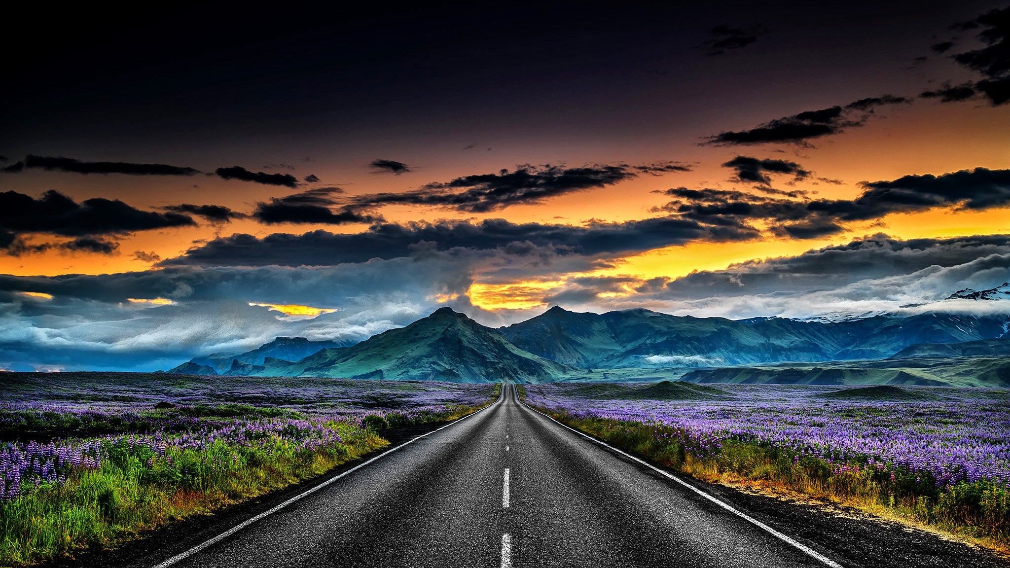 Iceland Landscapes Road Wallpaper Hd Nature 4k Wallpapers Images Photos And Background