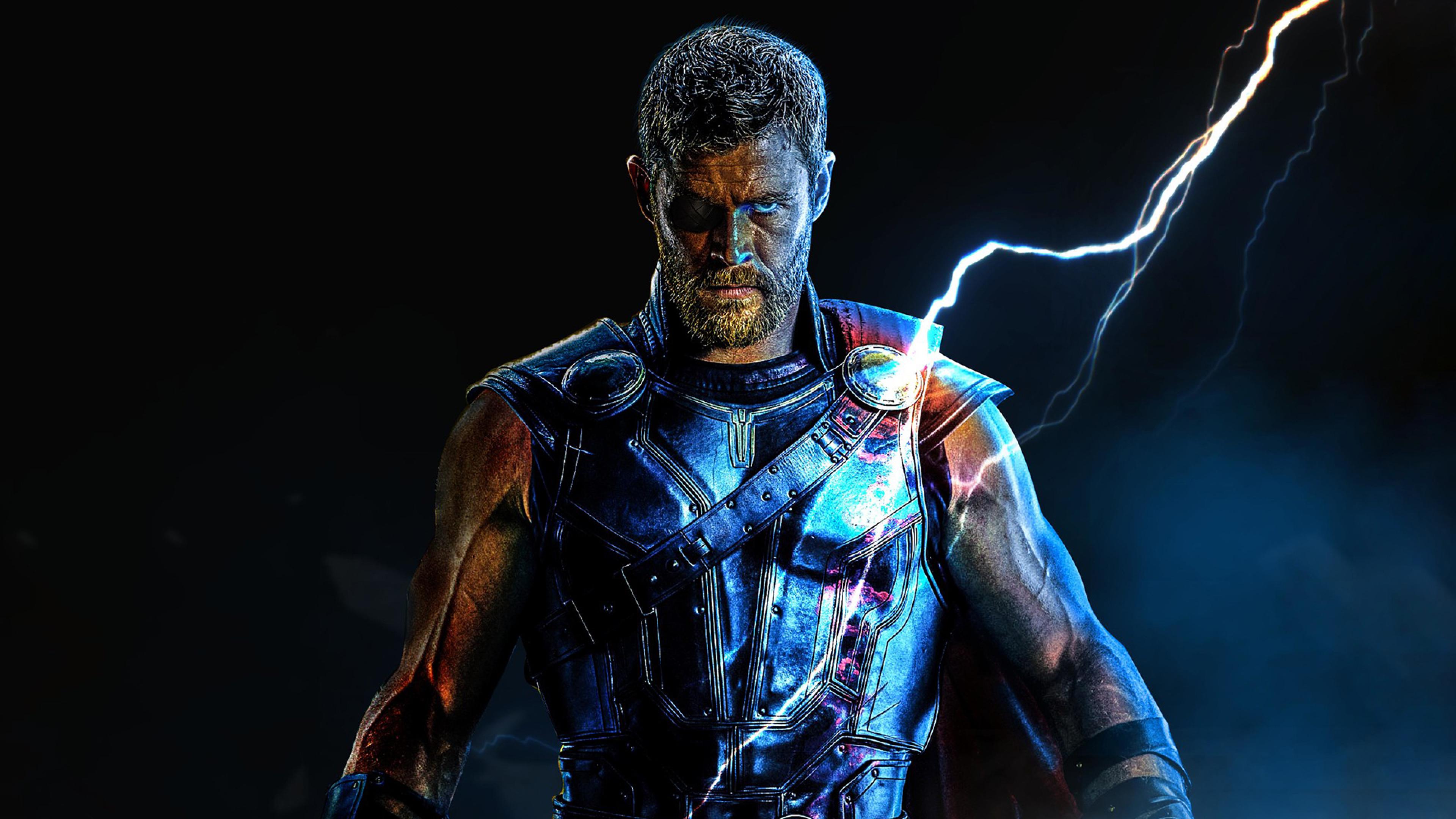 Infinity War Thor Digital Art Full Hd Wallpaper