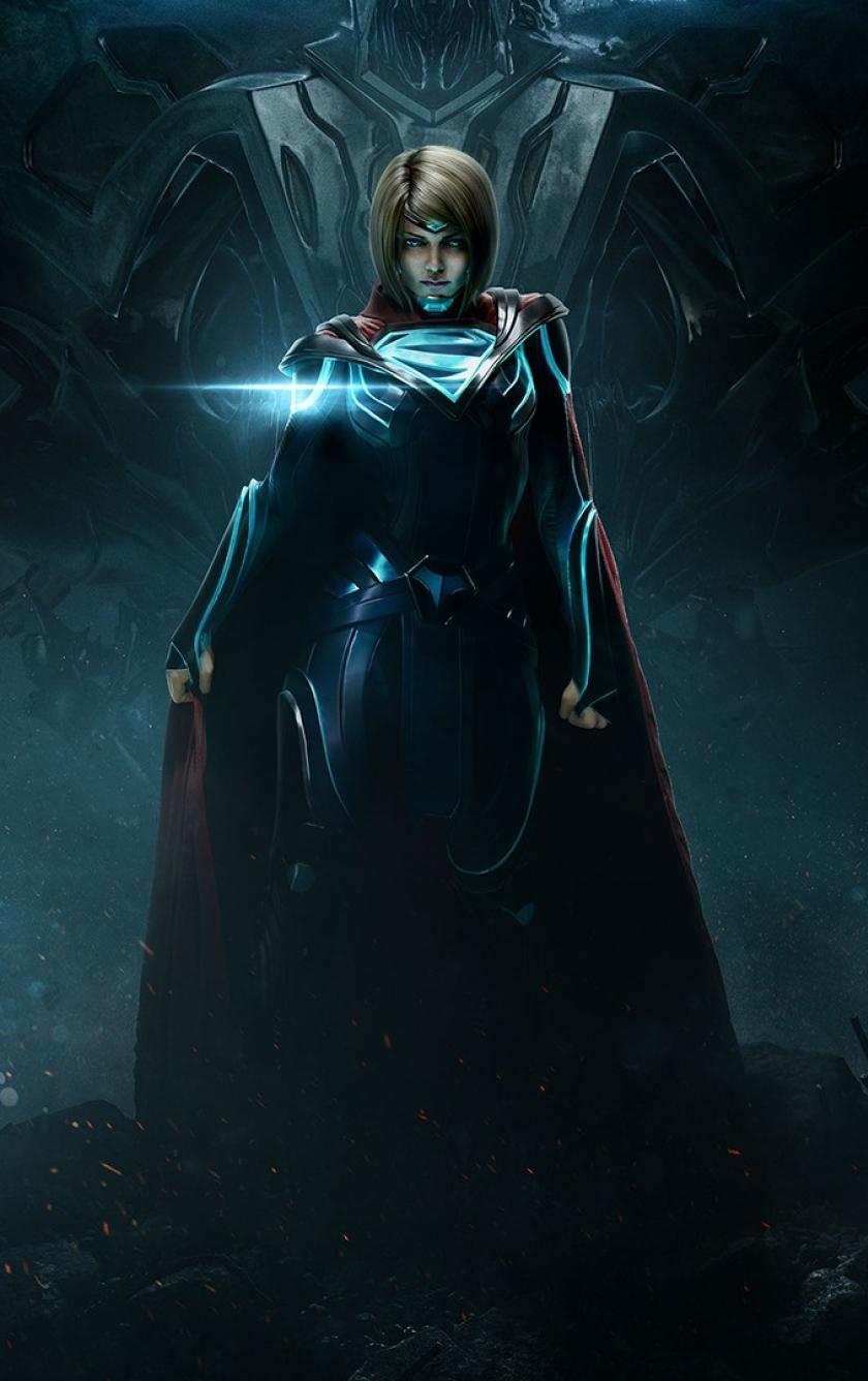 840x1336 Injustice 2 Supergirl 840x1336 Resolution Wallpaper