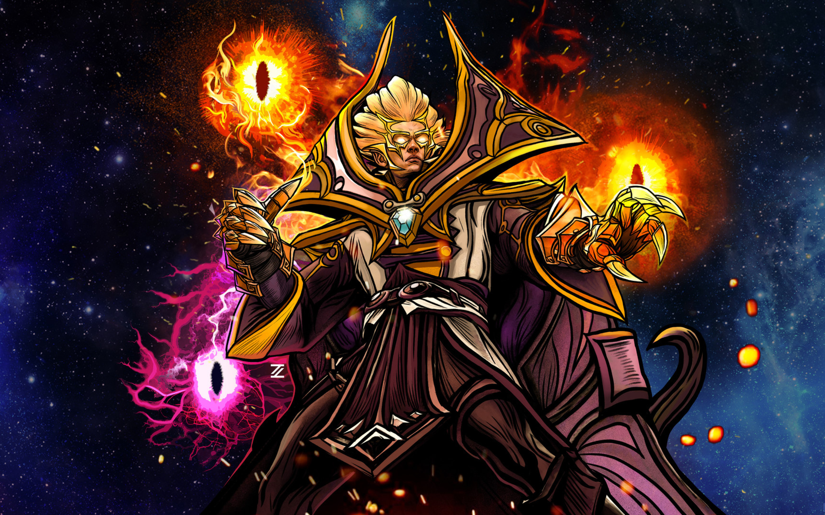 2880x1800 Invoker In DotA 2 Macbook Pro Retina Wallpaper HD