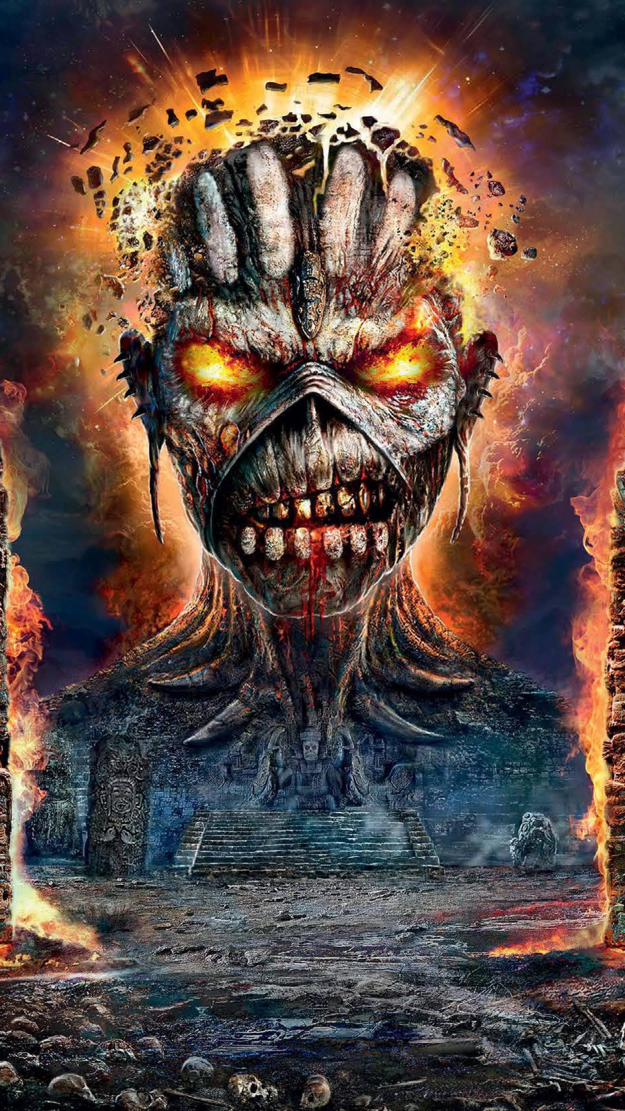 2160x3840 Iron Maiden Ruins Monster Sony Xperia X Xz Z5 Premium