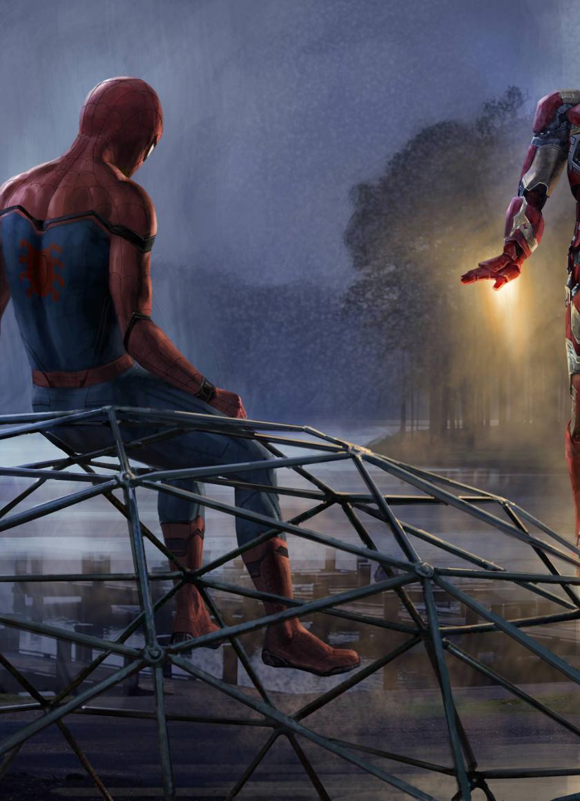 Iron man and spiderman artwork hd 8k wallpaper - Spiderman and ironman wallpaper ...
