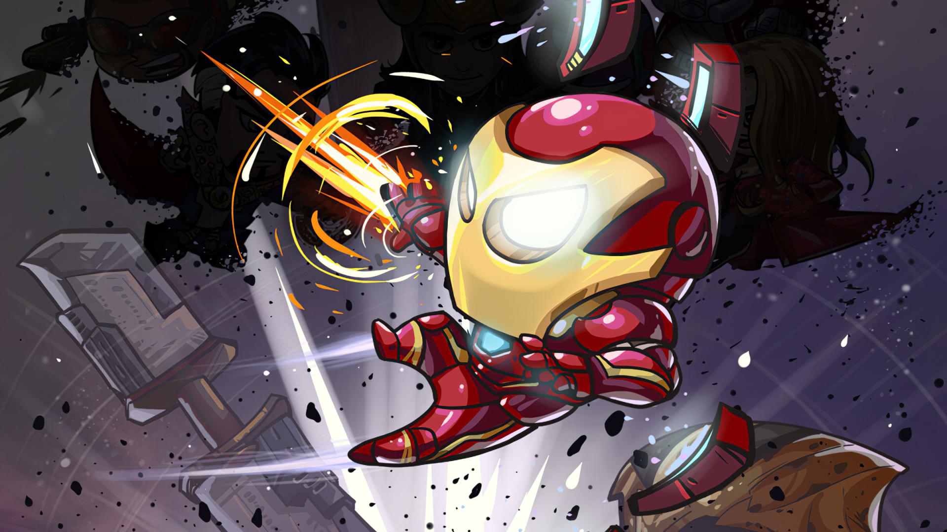 1920x1080 Iron Man Cartoon Marvel Art 1080P Laptop Full HD ...