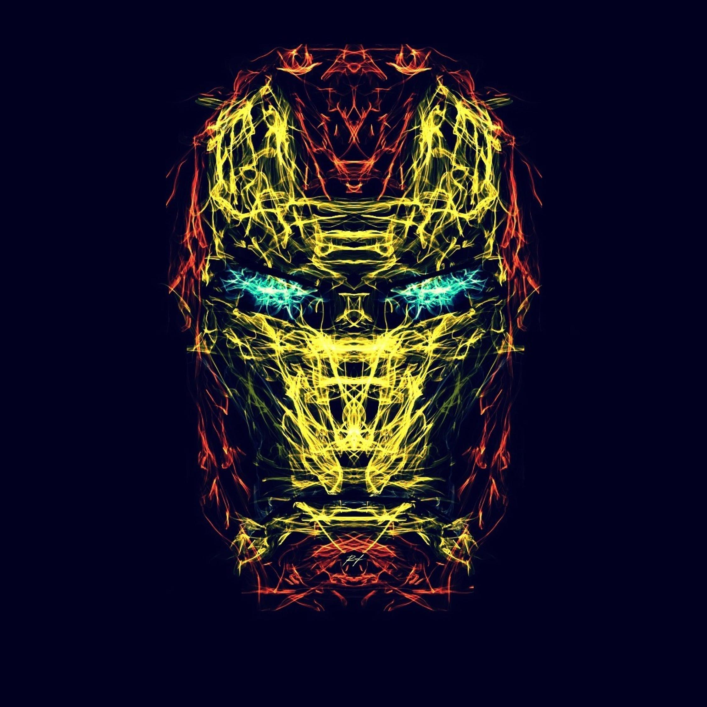 Iron Man Creative Abstract Art, Full HD Wallpaper