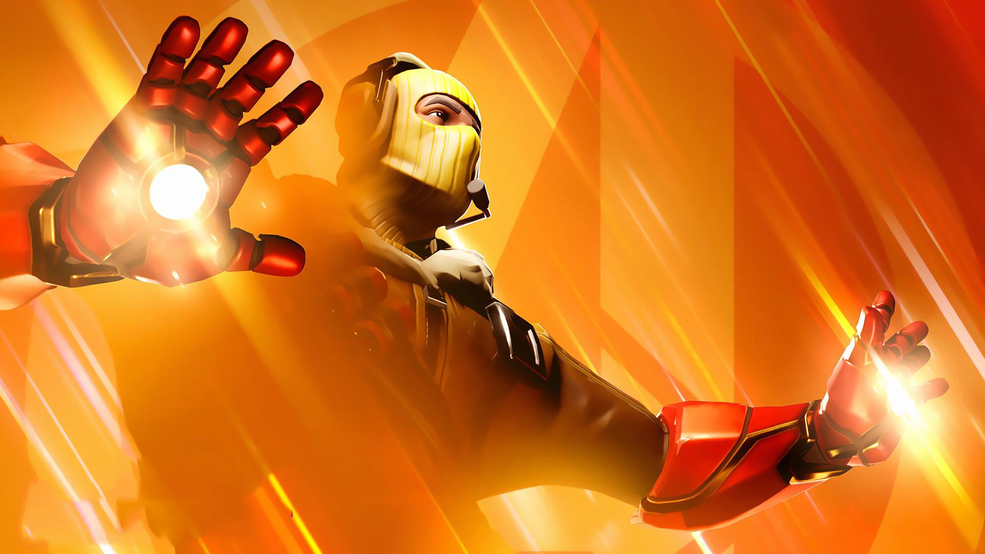 1920x1080 Iron Man Fortnite Avengers Endgame Raptor 1080P ...
