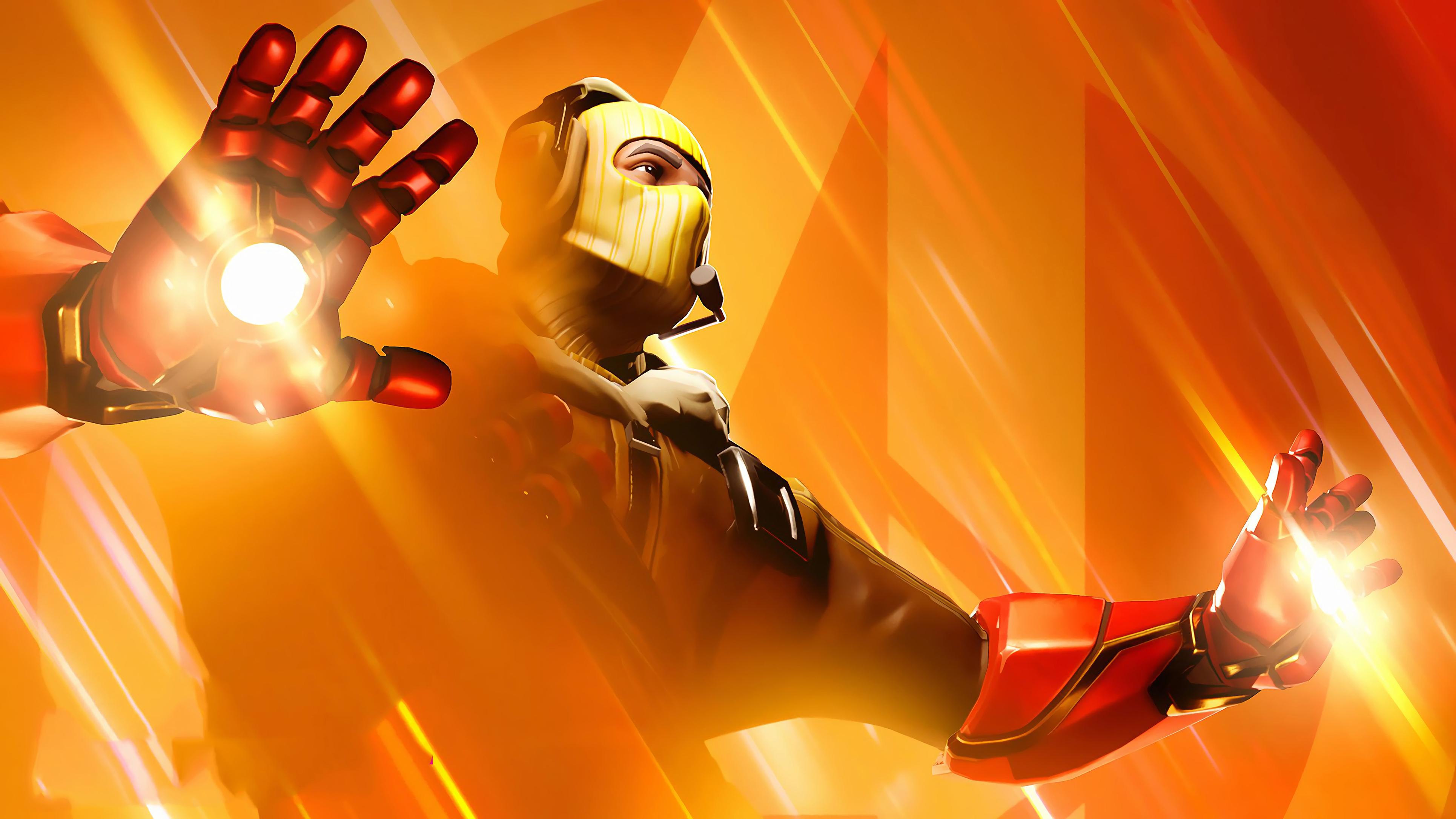 Iron Man Fortnite Avengers Endgame Raptor Wallpaper Hd
