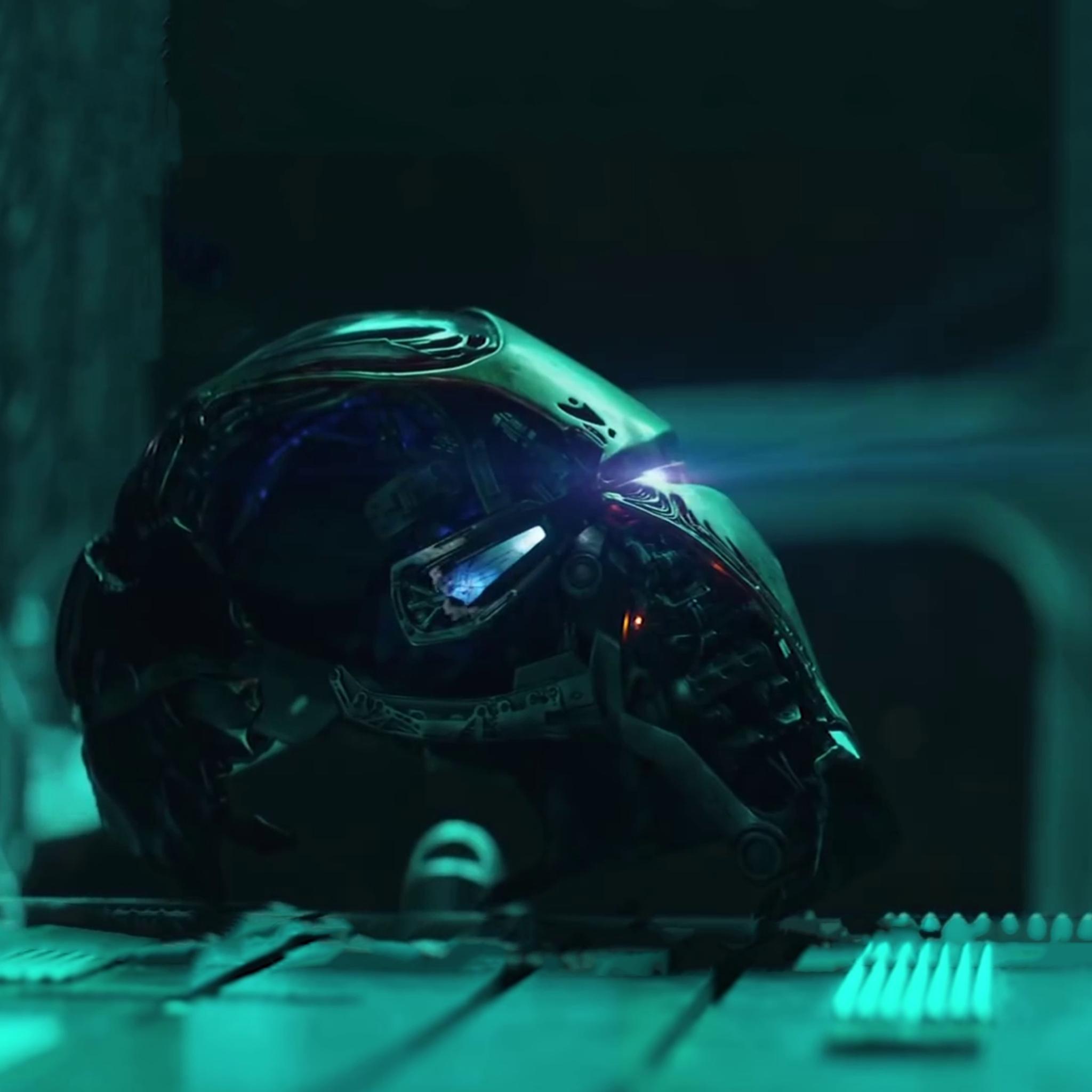 2048x2048 Iron Man Helmet From Avengers Endgame Ipad Air