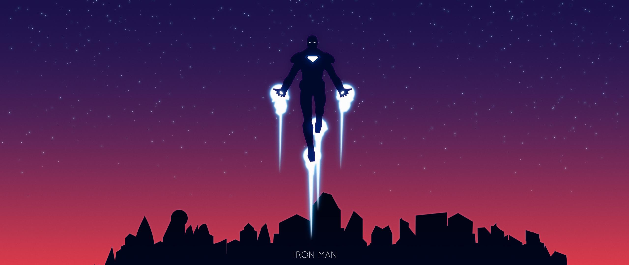 Download Iron Man Minimalism 2 2560x1080 Resolution, Full ...