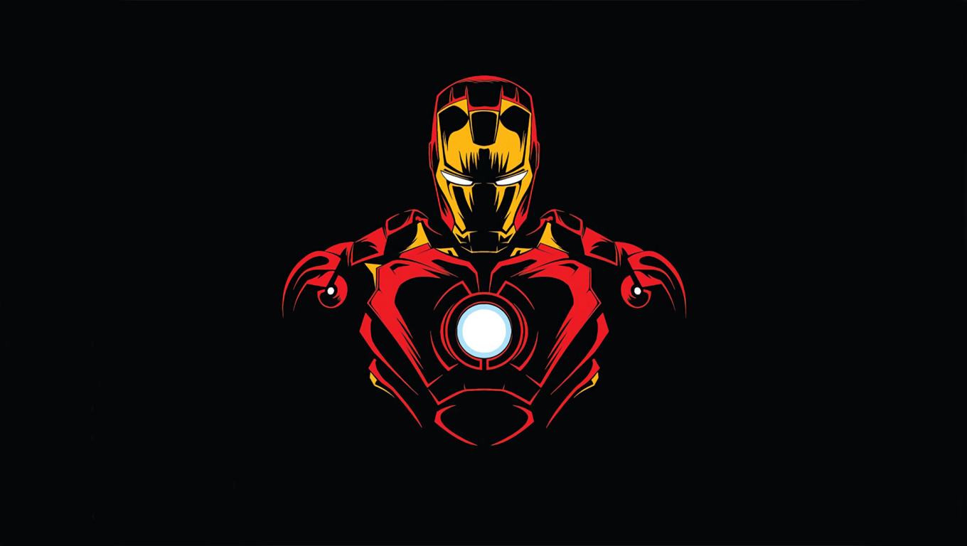 1360x768 Iron Man Minimalist Desktop Laptop Hd Wallpaper Hd