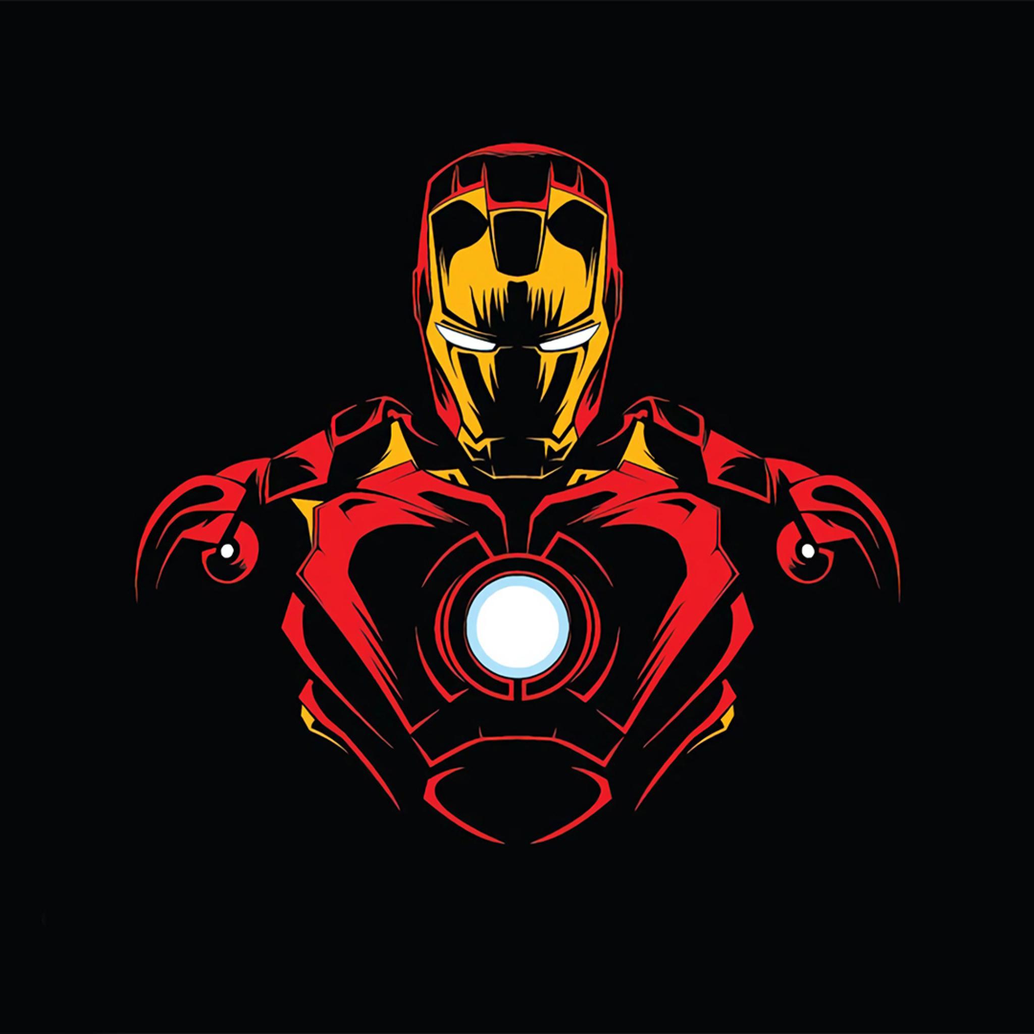 2048x2048 Iron Man Minimalist Ipad Air Wallpaper, HD