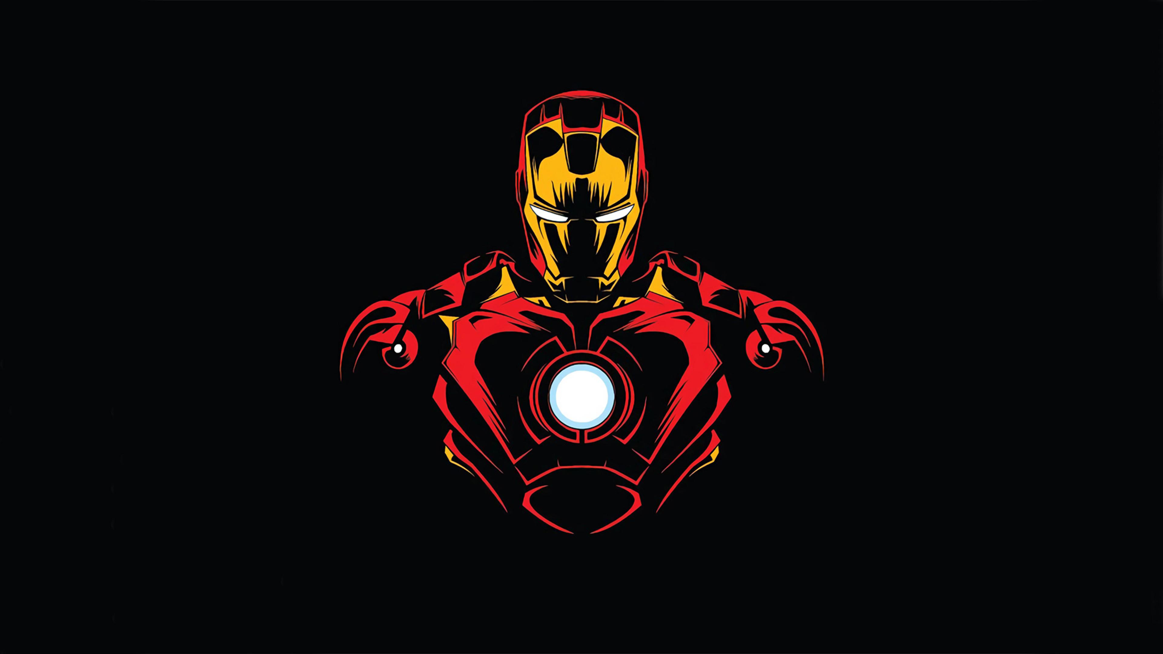 3840x2160 Iron Man Minimalist 4K Wallpaper, HD Superheroes ...